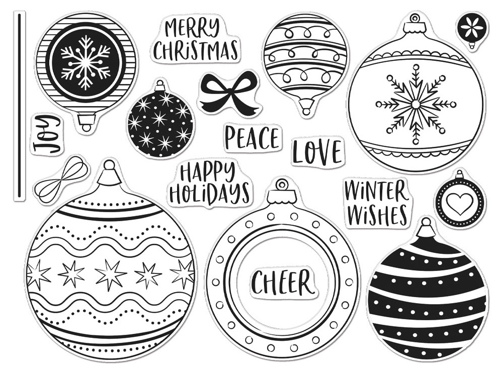 Hero Arts Clear Stamps 6X8-Ornament Peek-A-Boo Infinity Parts