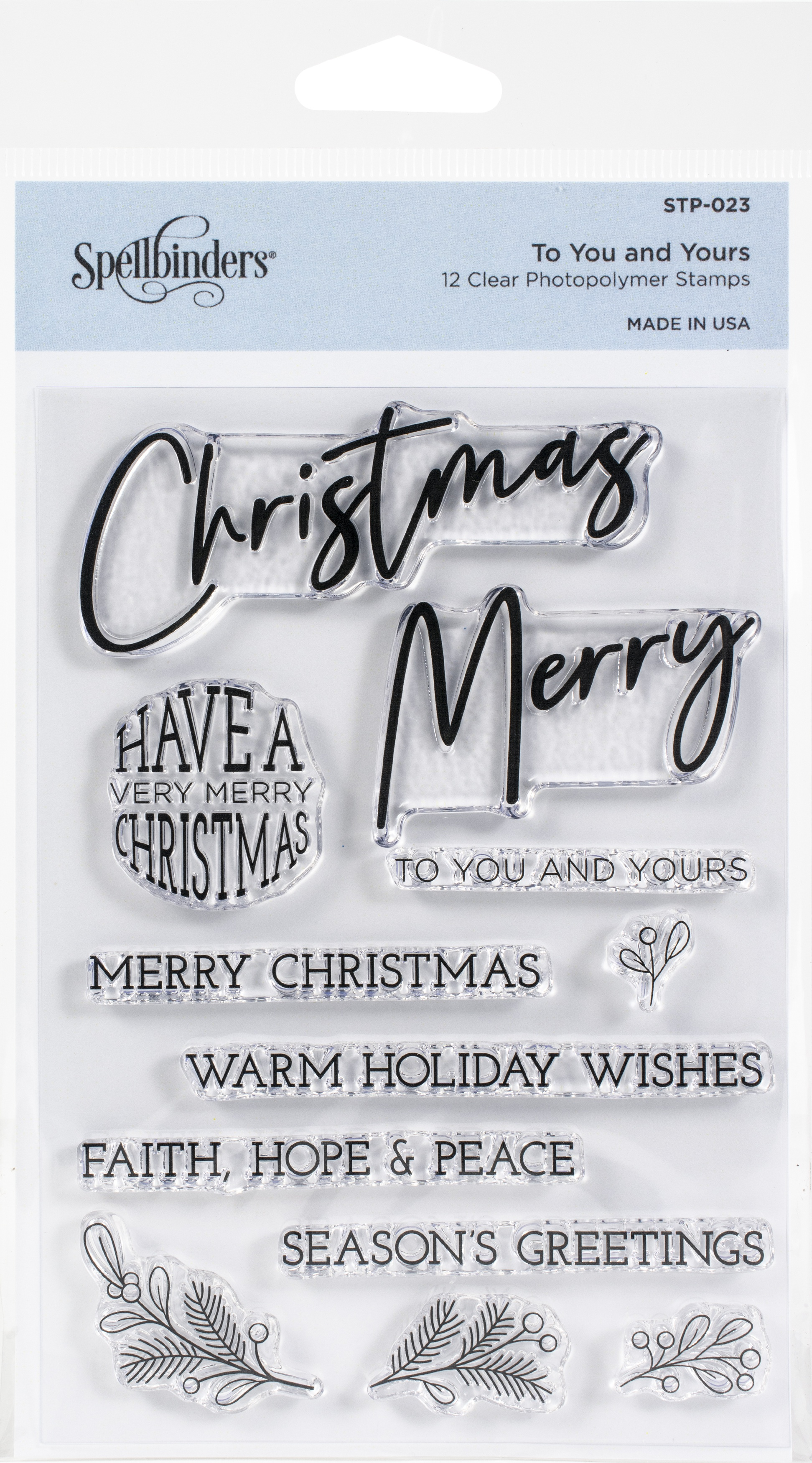 Spellbinders Stamps-To You And Yours
