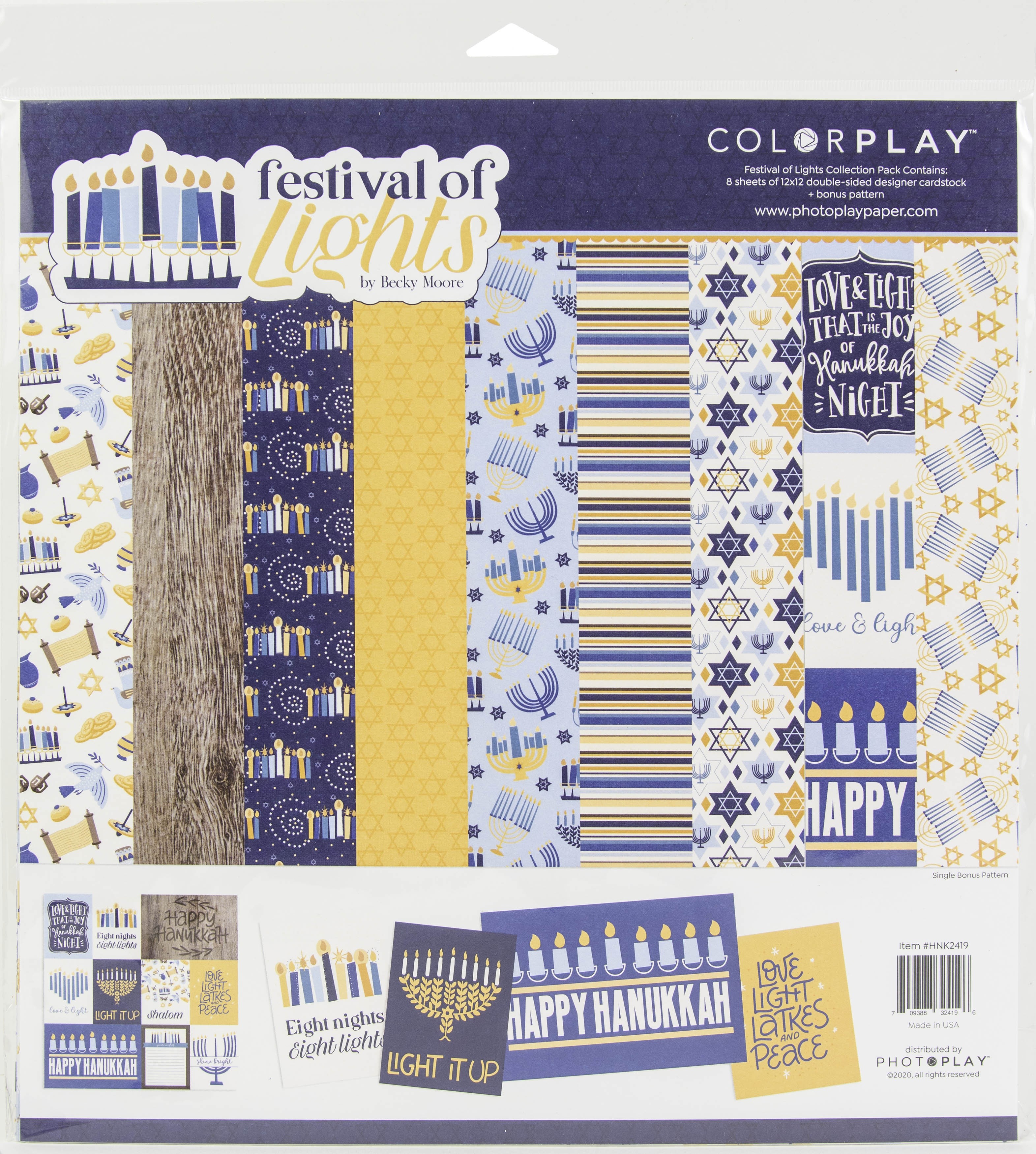 ColorPlay Collection Pack 12X12-Festival Of Lights, 4 Designs/2 Each +