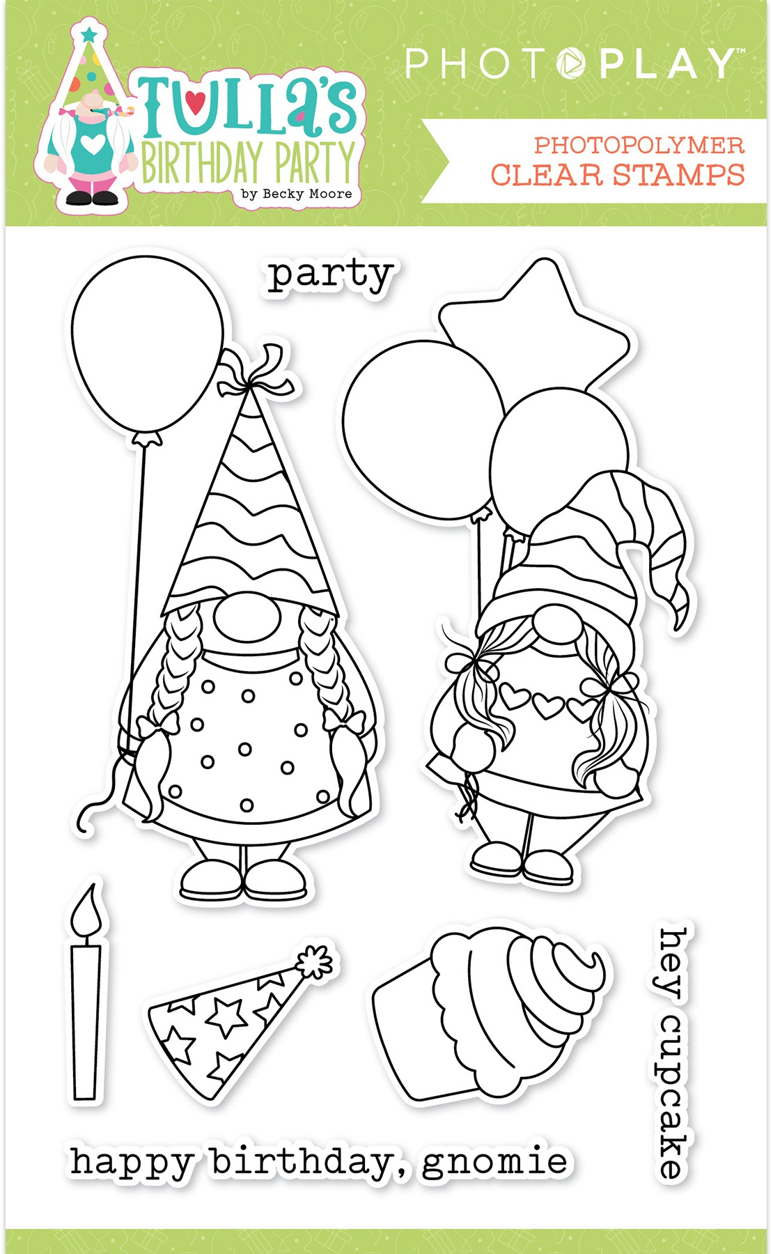 PhotoPlay Photopolymer Stamp-Tulla's Birthday