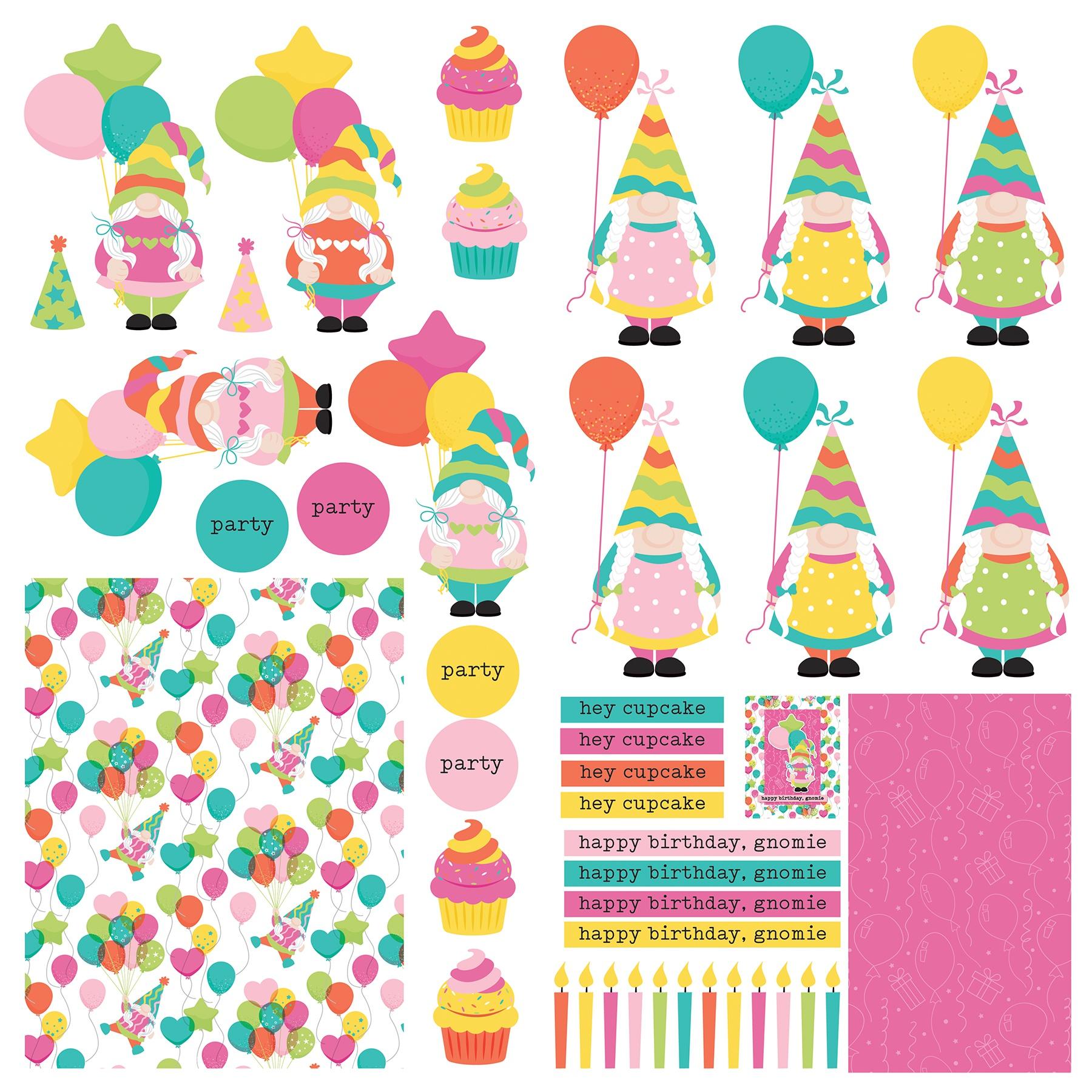PhotoPlay - Tulla's Birthday Cardstock Die-Cut Sheet 12X12