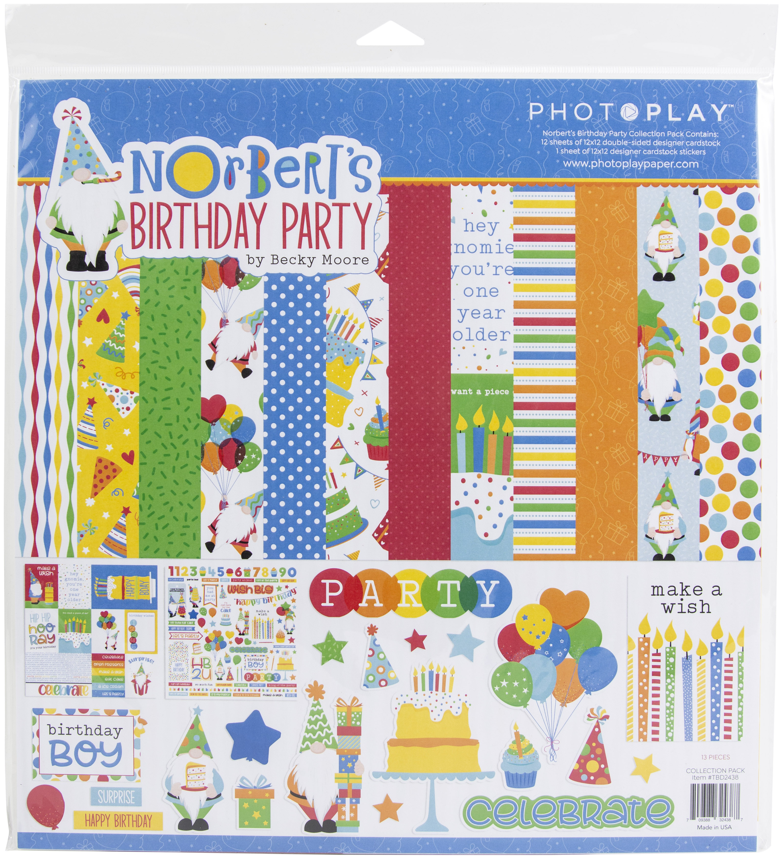PhotoPlay Collection Pack 12X12-Norbert's Birthday