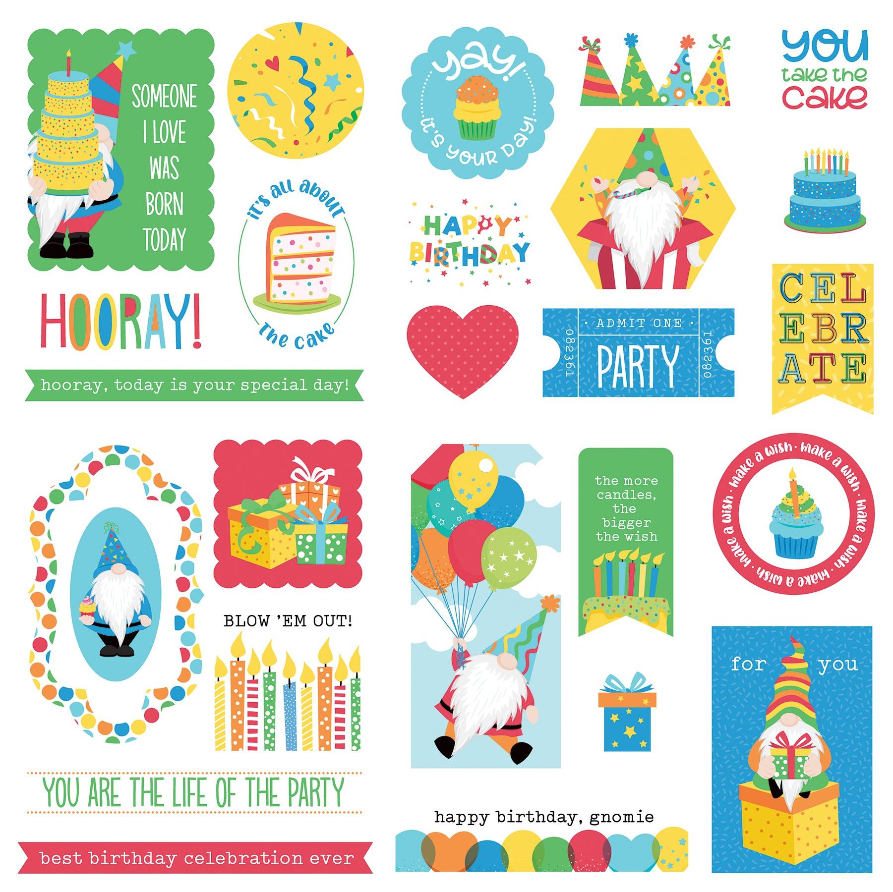 Norbert's Birthday Ephemera Cardstock Die-Cuts-