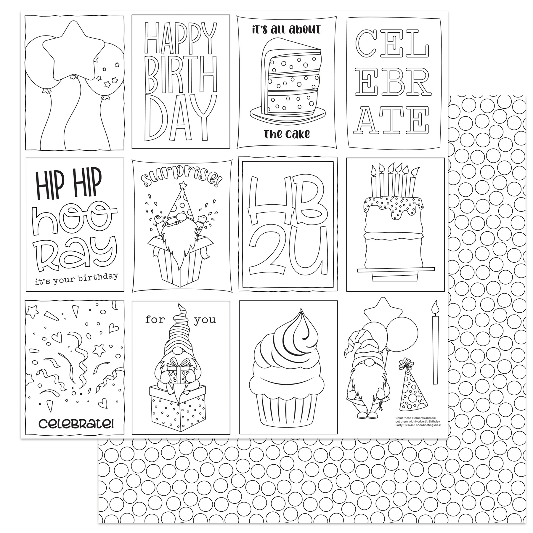 Norbert's Birthday Double-Sided Cardstock 12X12-Color Me
