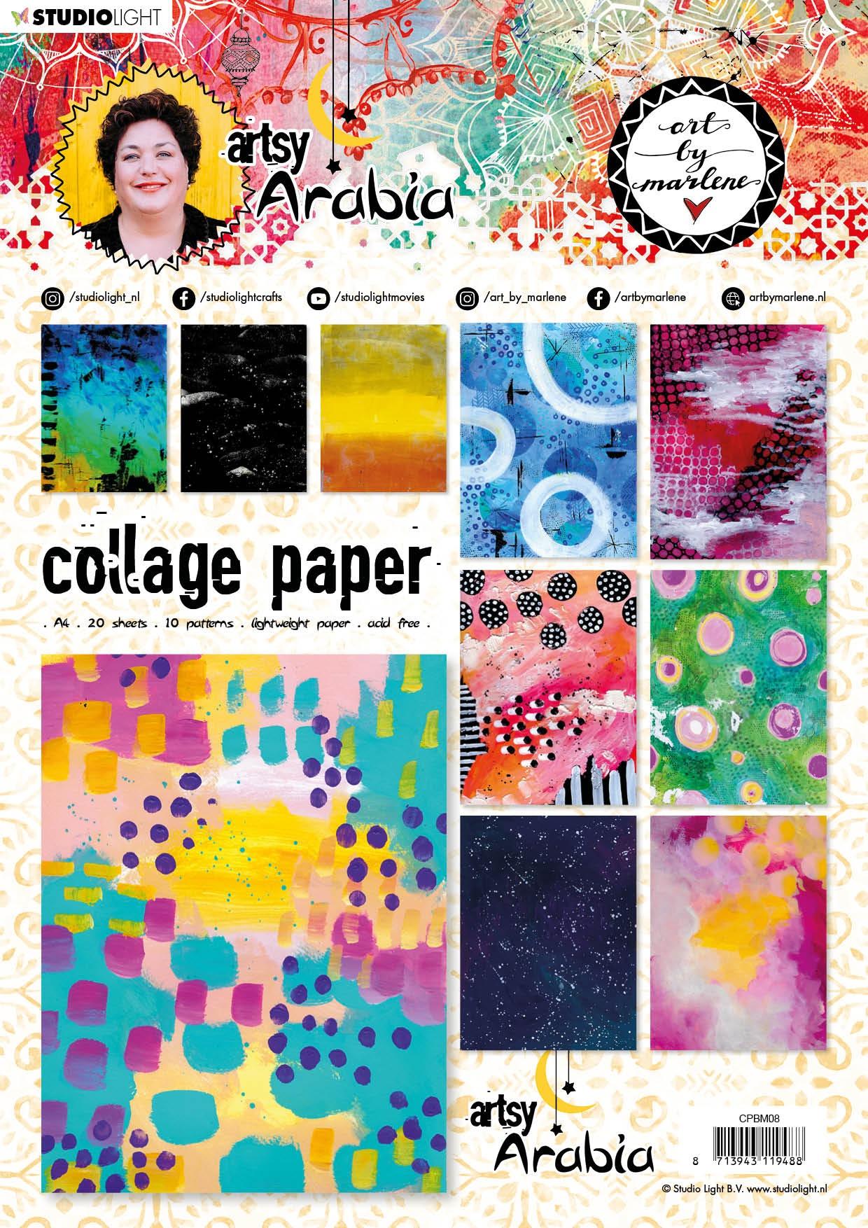 Studio Light Collage Paper Pad Arabia 08