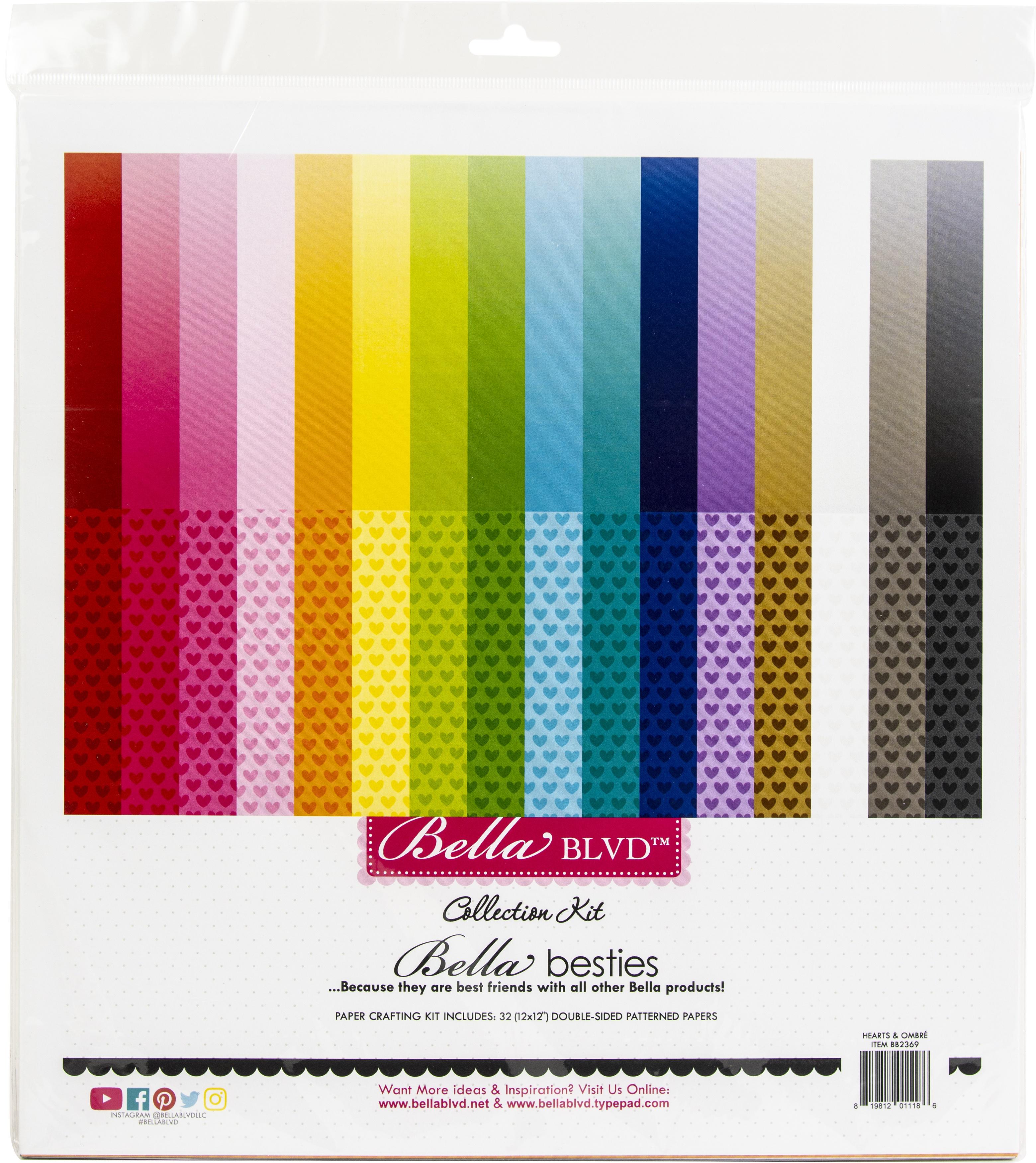 Bella Blvd Bella Besties Collection Kit 12X12-Hearts & Ombre Rainbow