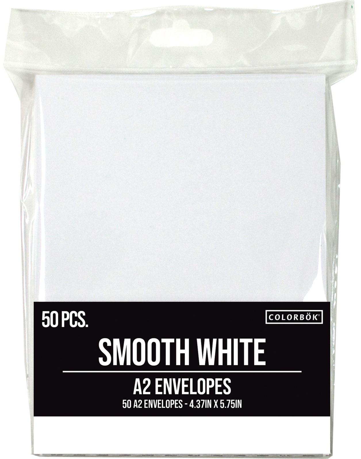 Colorbok A2 Envelopes (4.375X5.75) 50/Pkg-White