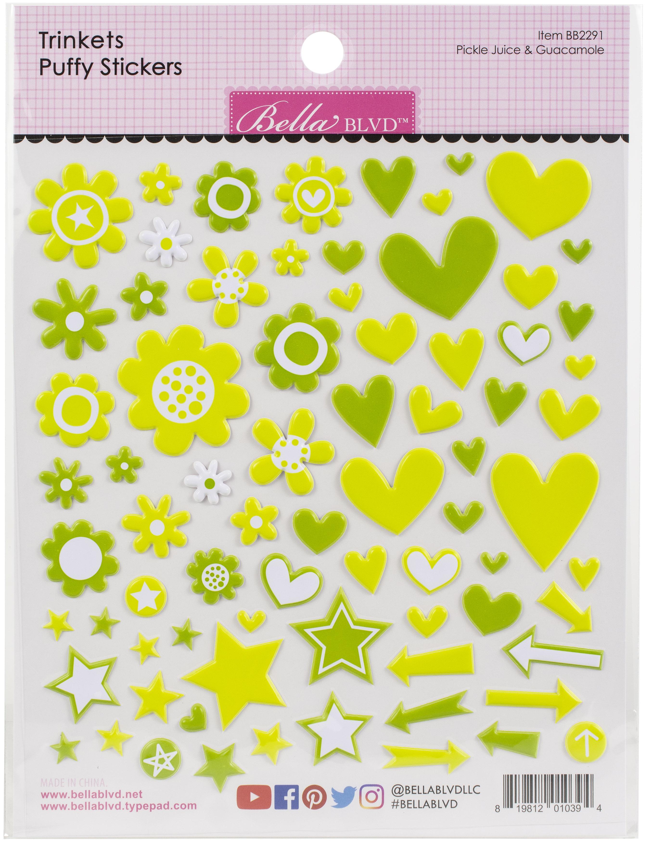 Bella Besties Trinkets Puffy Stickers-Pickle Juice & Guacamole
