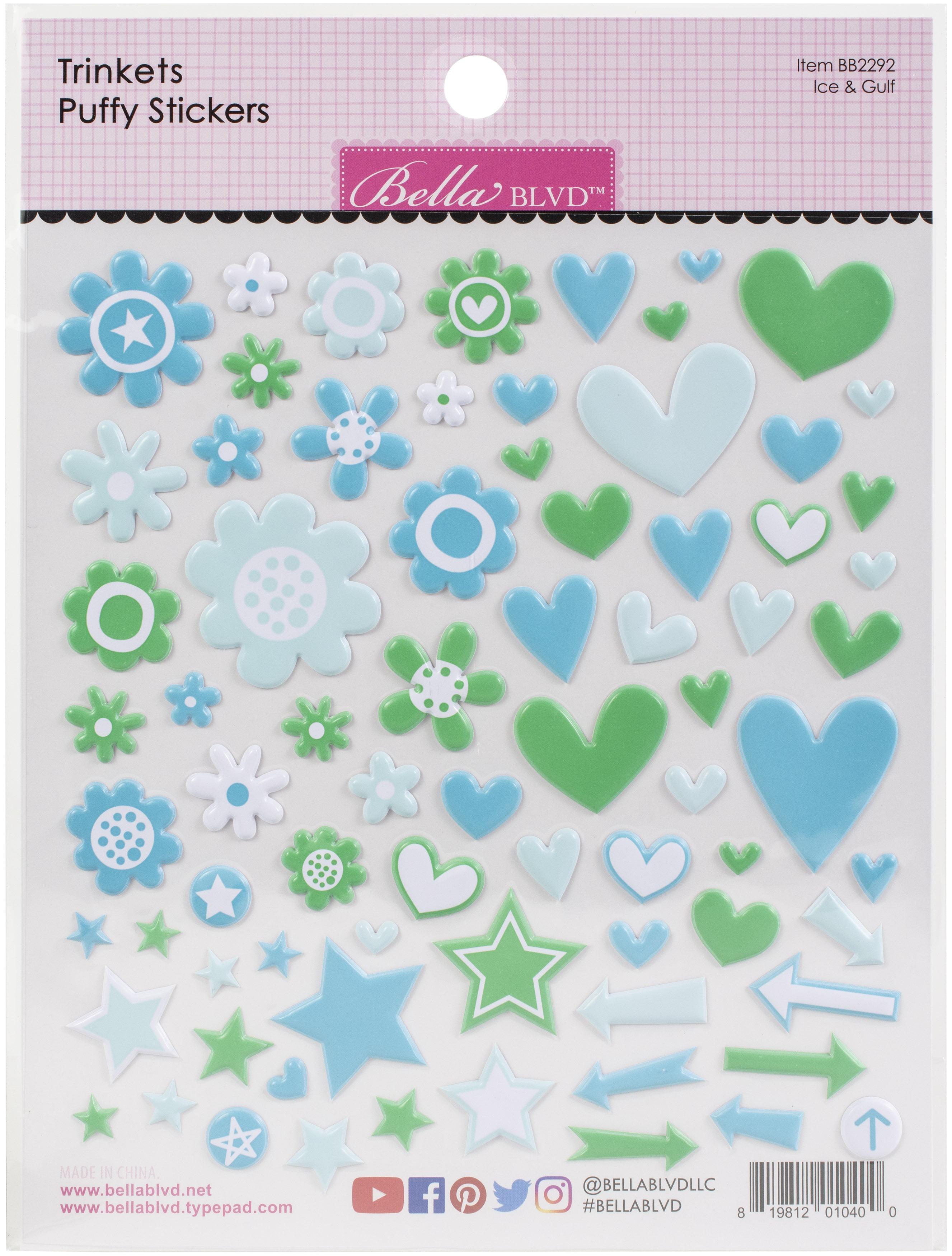 Bella Besties Trinkets Puffy Stickers-Ice & Gulf
