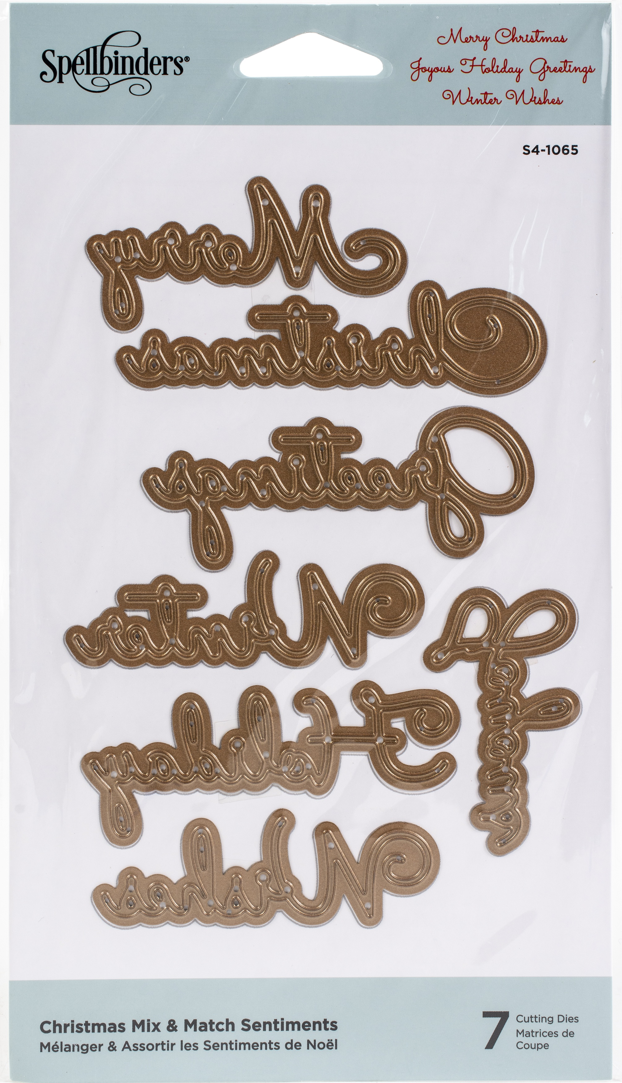 Spellbinders Etched Dies-Christmas Mix & Match Sentiments