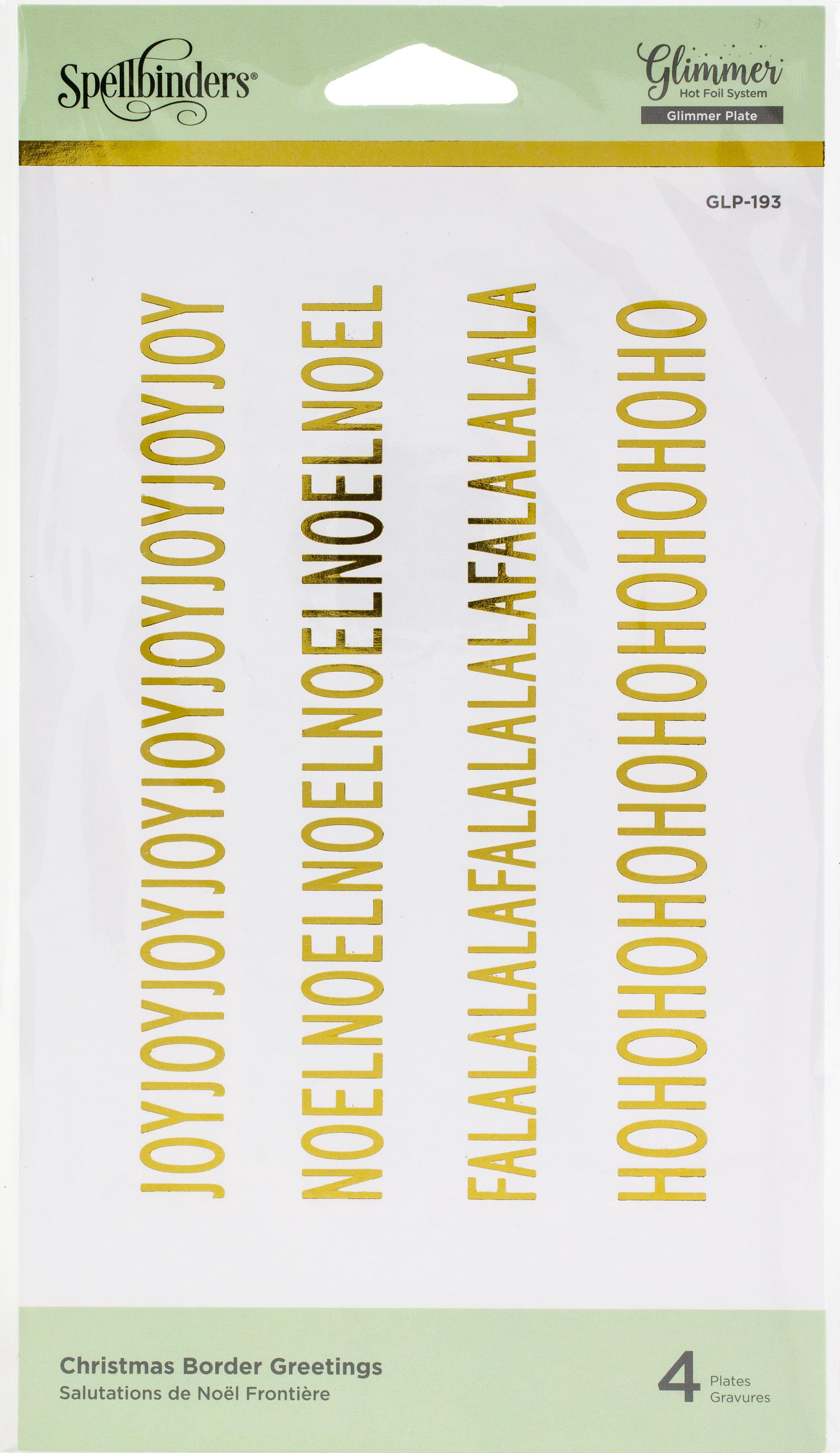 Spellbinders Glimmer Hot Foil Plate-Christmas Border Greetings