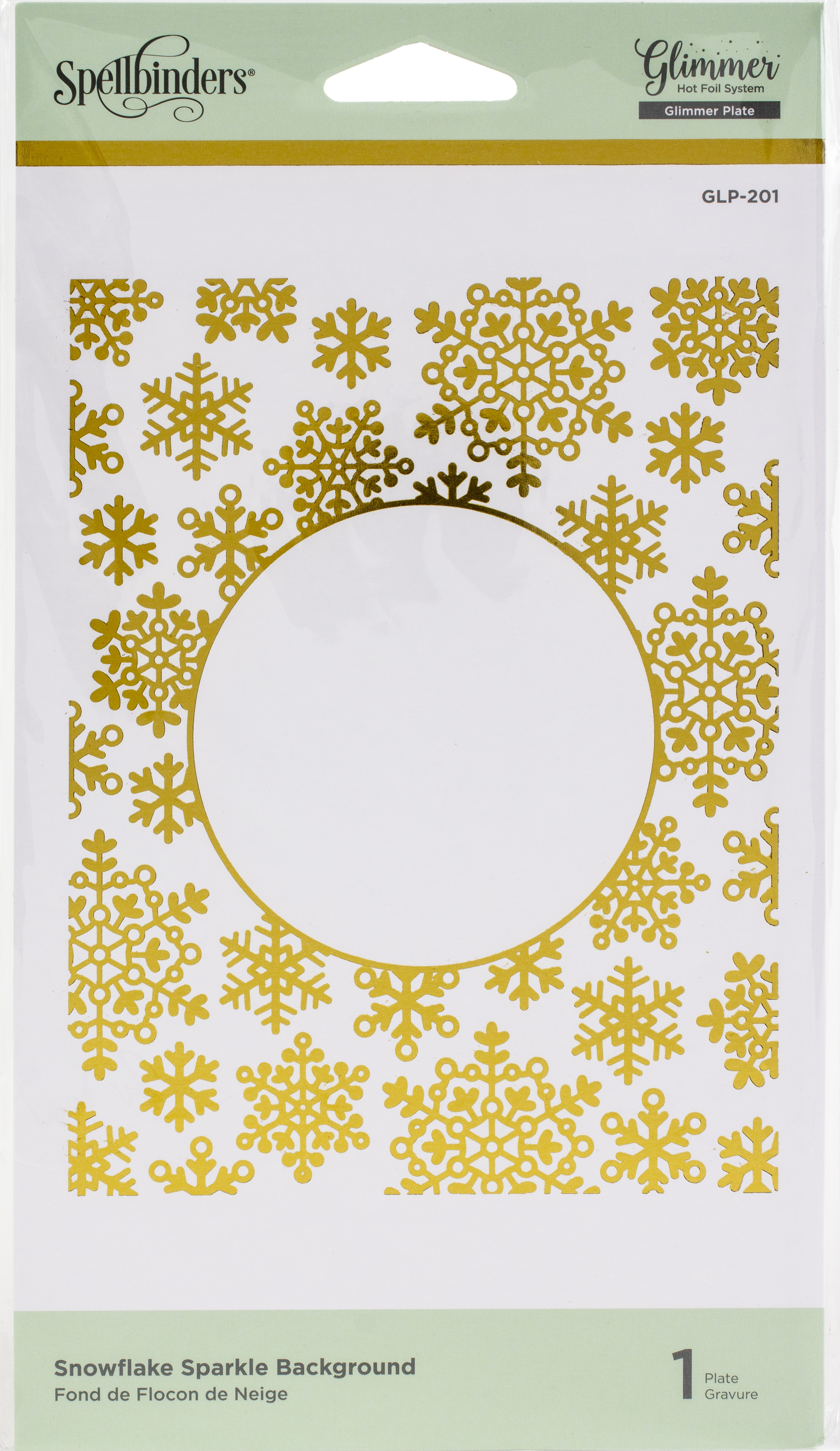 Spellbinders Glimmer Backgrounds Hot Foil Plate-Snowflake Sparkle