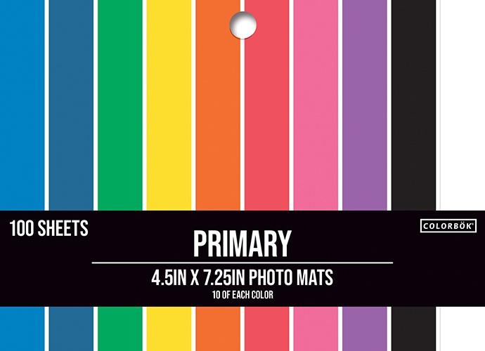 Colorbok Photo Mat 4.5X7.25 100/Pkg-Primary