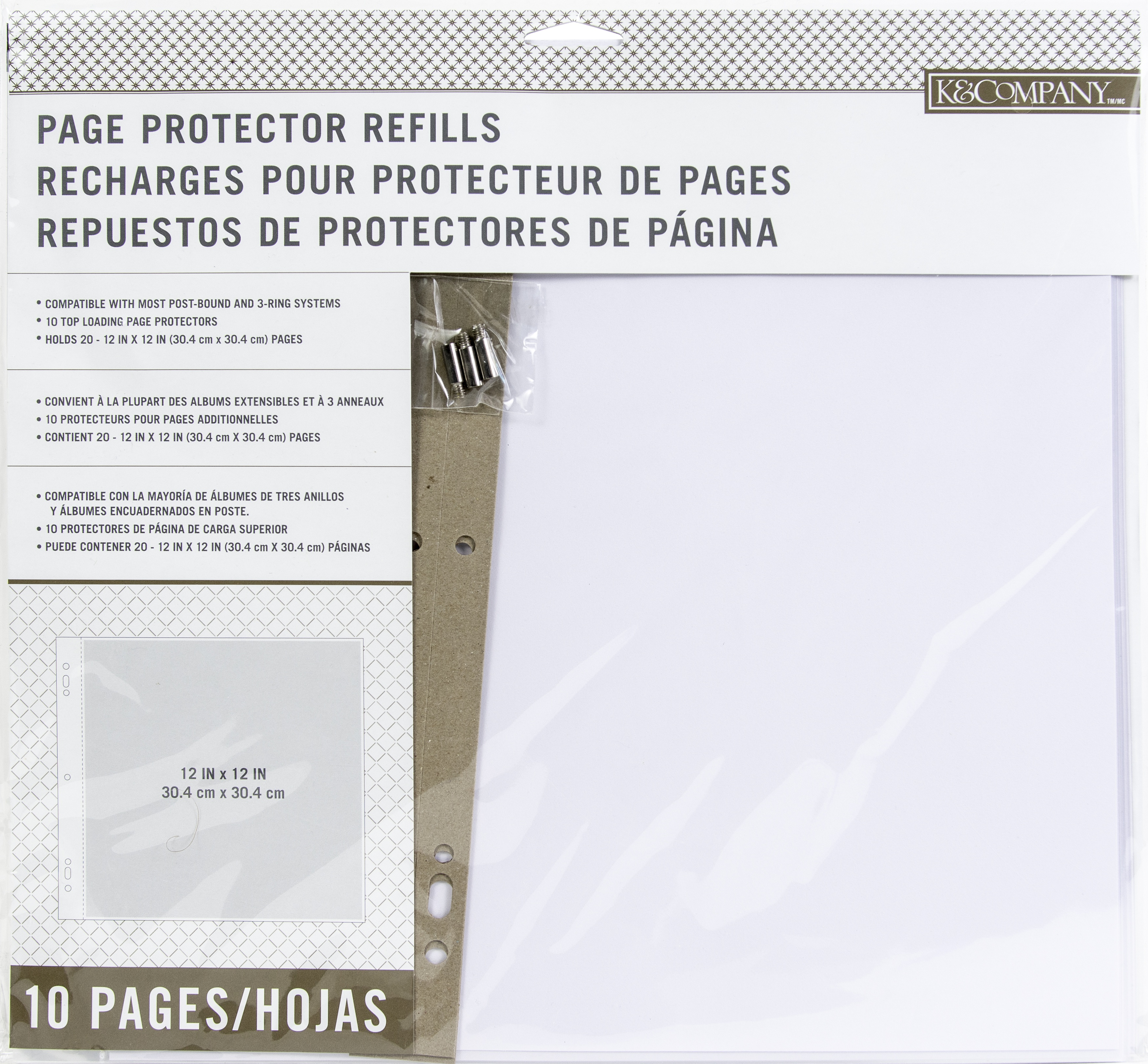 K&Company Page Protector Refills 12X12 10/Pkg-