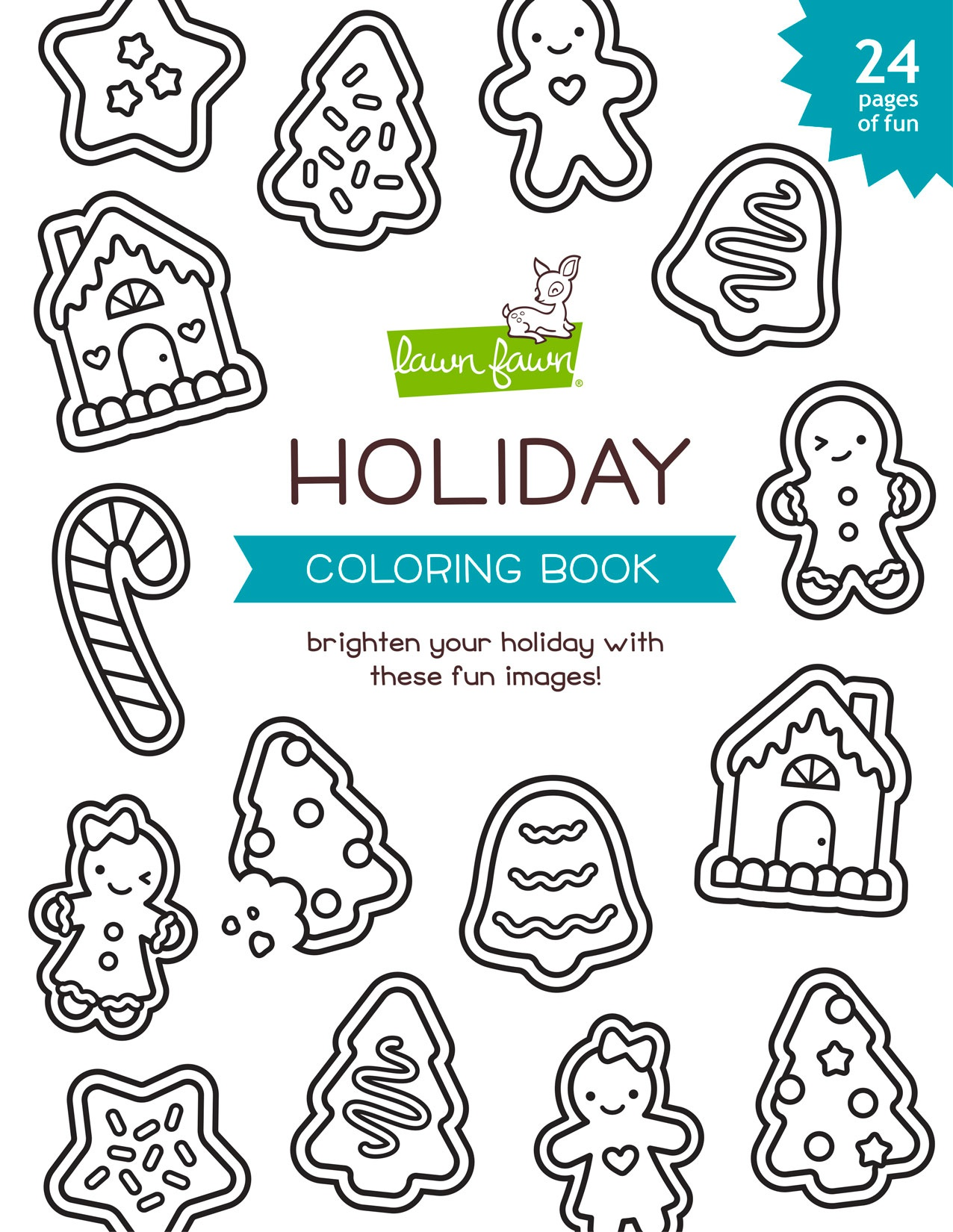 Lawn Fawn Coloring Book-Holiday