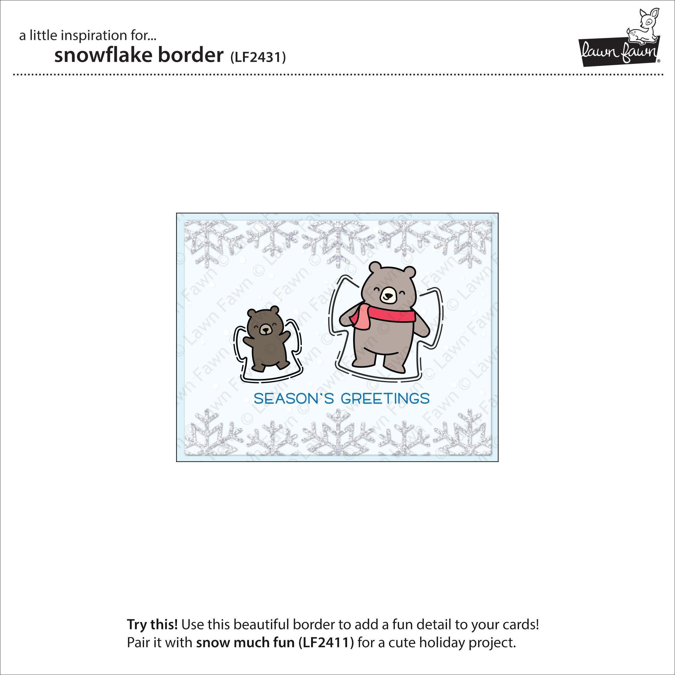 Lawn Cuts Custom Craft Die -Snowflake Border