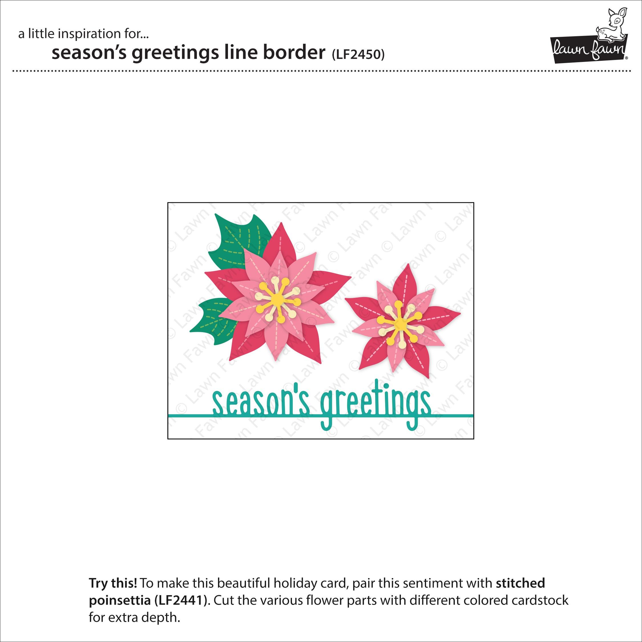 Seasons Greetings Line Border Die