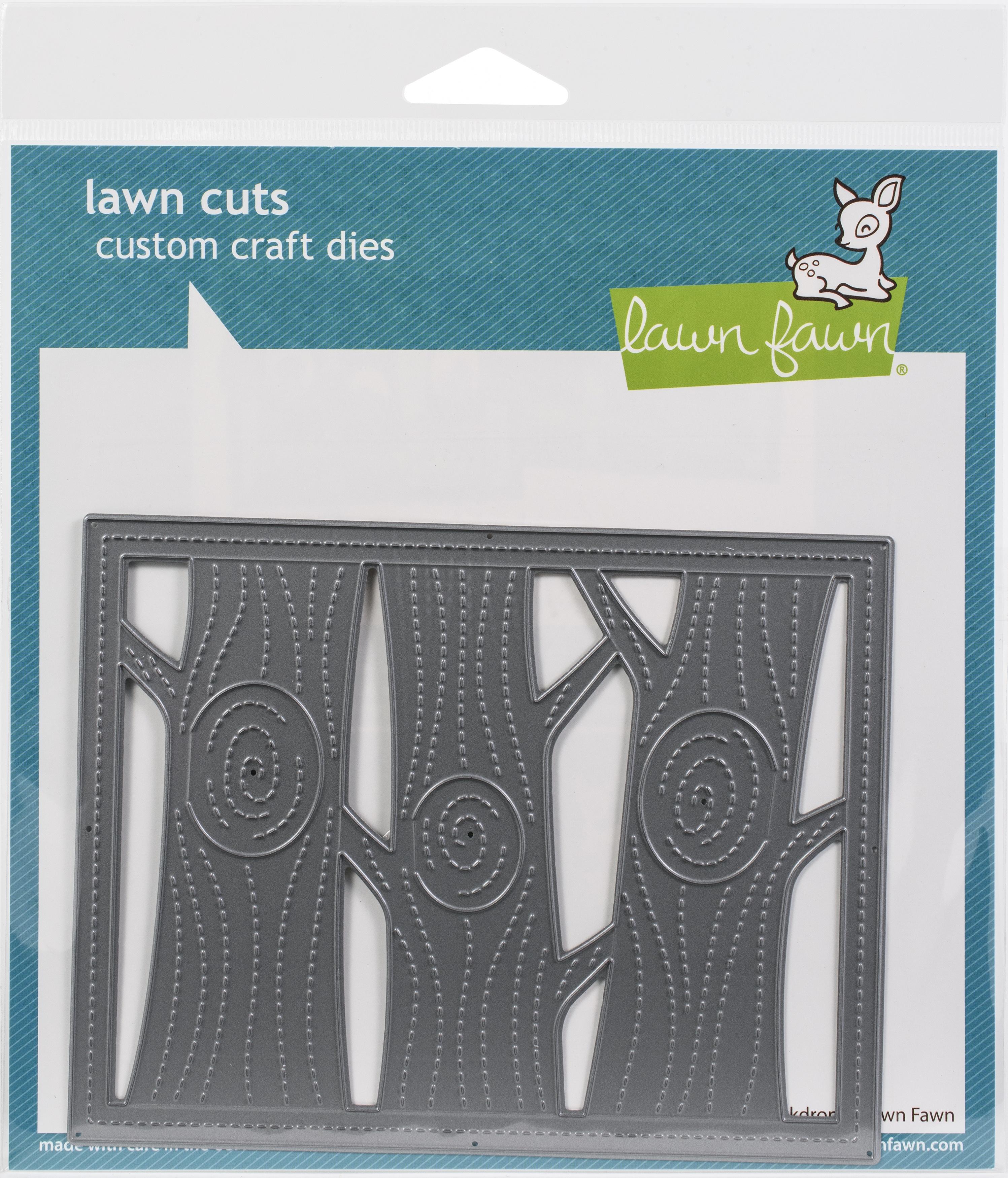 Lawn Cuts Custom Craft Die -Lift The Flap Tree Backdrop