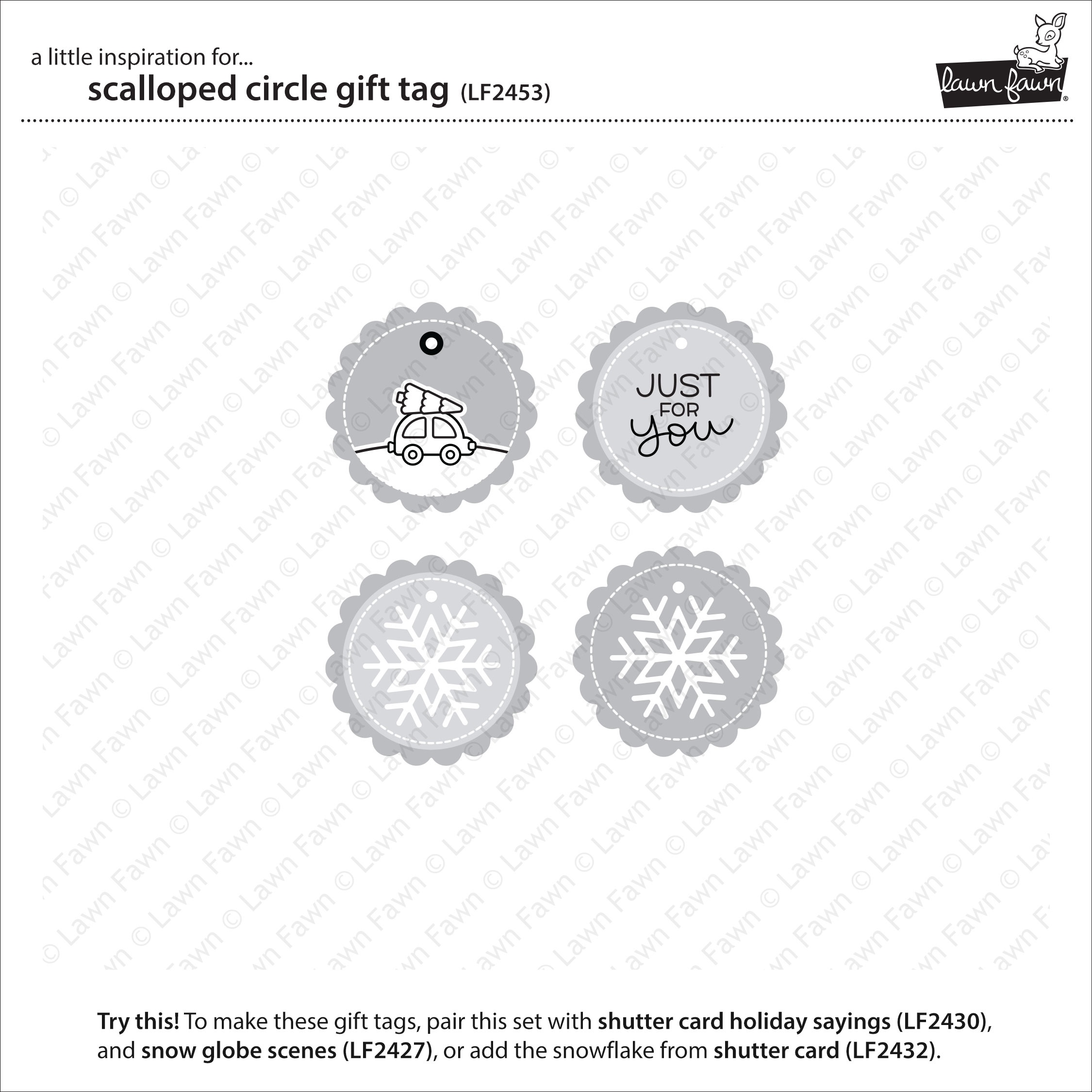 Scalloped Circle Gift Tag Die