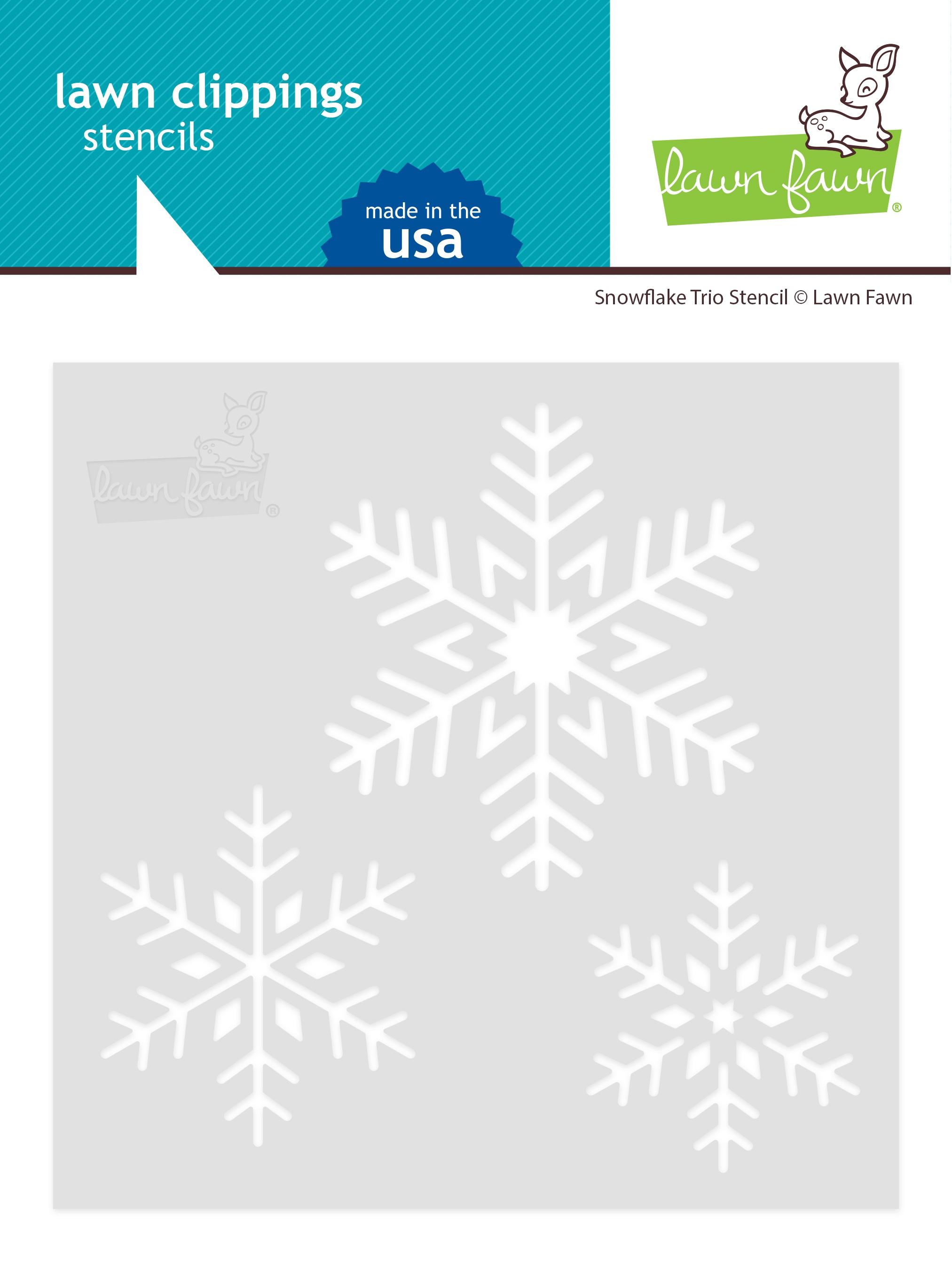 Snowflake Trio Stencil