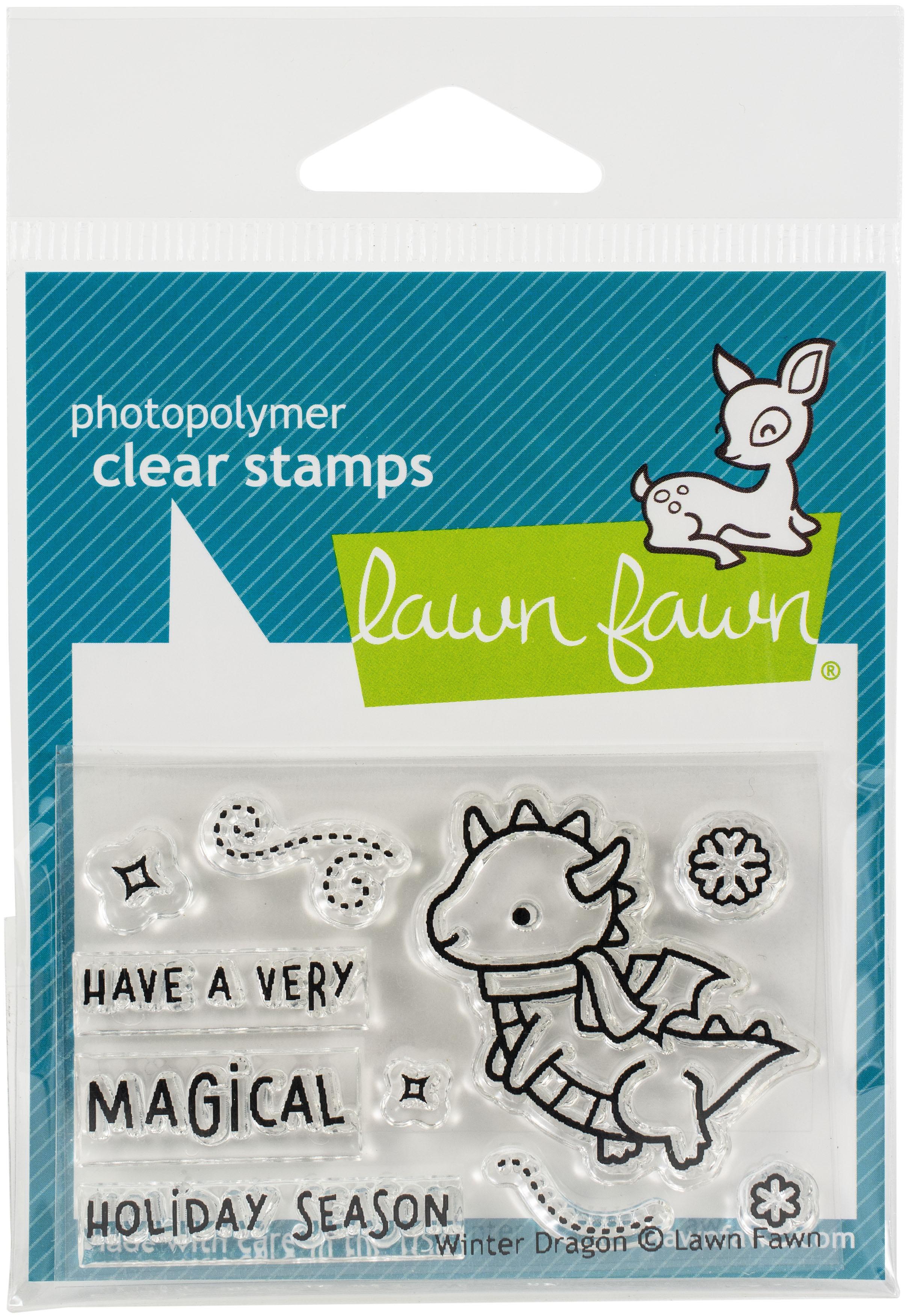 Lawn Fawn Winter Dragon Stamp