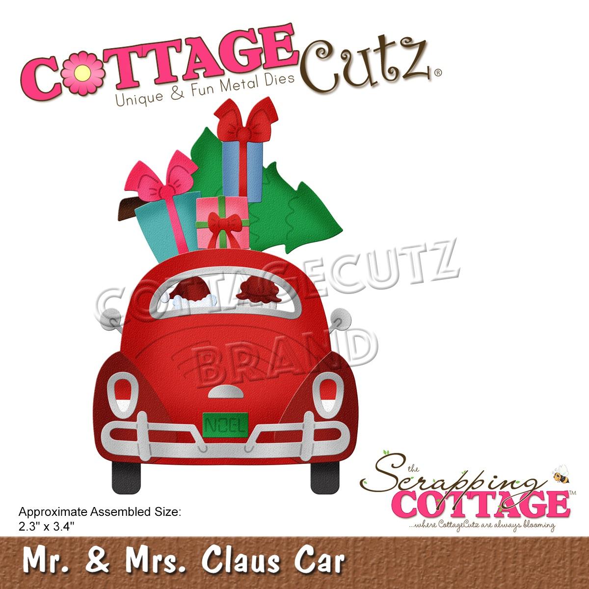 CottageCutz Dies-Mr & Mrs Claus Car 2.3X3.4