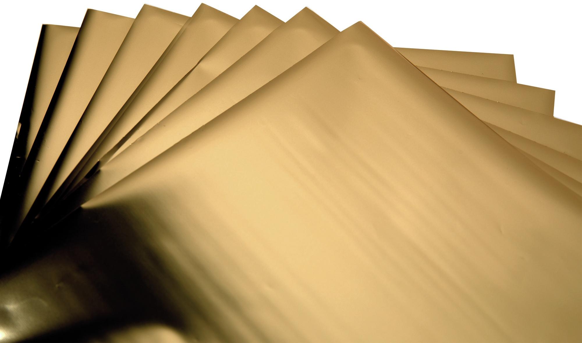 Sizzix Effectz Decorative Foil Sheets 6X6 8/Pkg-Gold