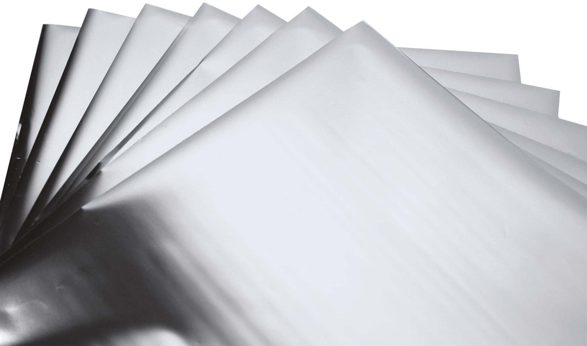 Sizzix Effectz Decorative Foil Sheets 6X6 10/Pkg-Silver