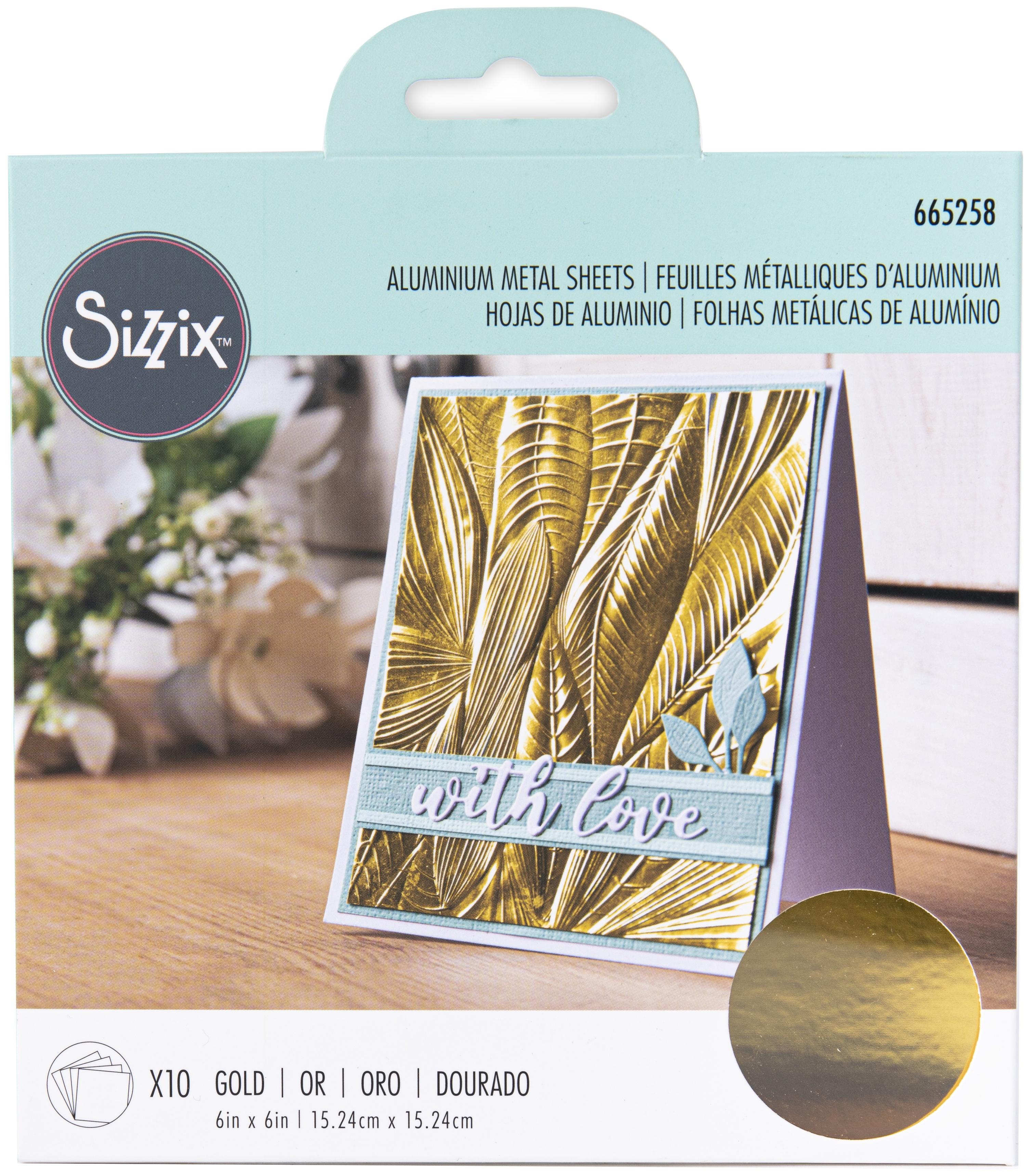 Sizzix Surfacez Aluminum Metal Sheets  Gold