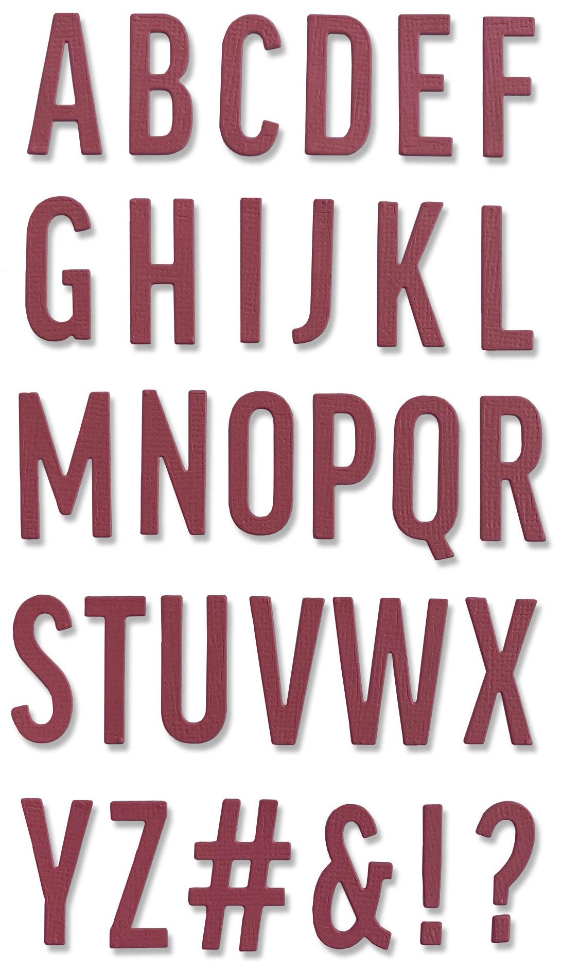 Sizzix Thinlits Dies - Bold Alphabet