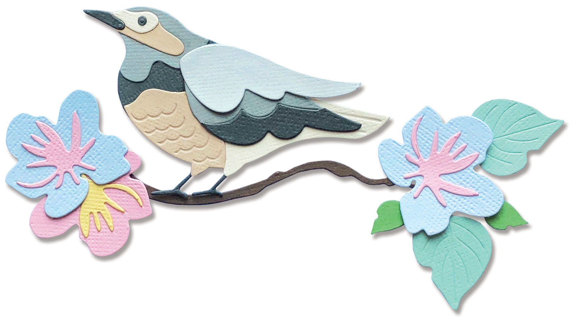 Sizzix Thinlits Dies By Jenna Rushforth 14/Pkg-Spring Bird