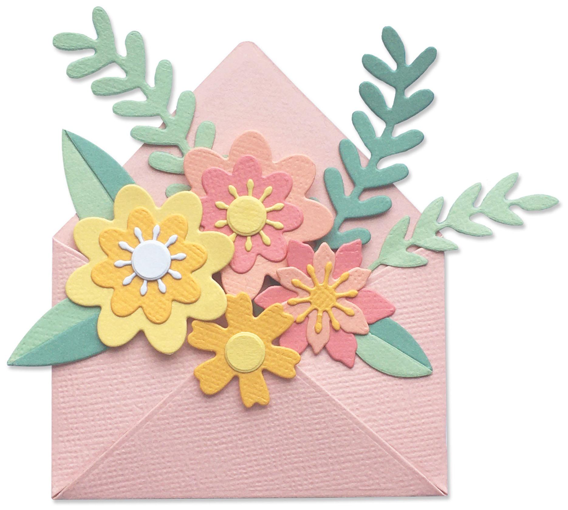Sizzix Thinlits Dies - Flowers with Envelope