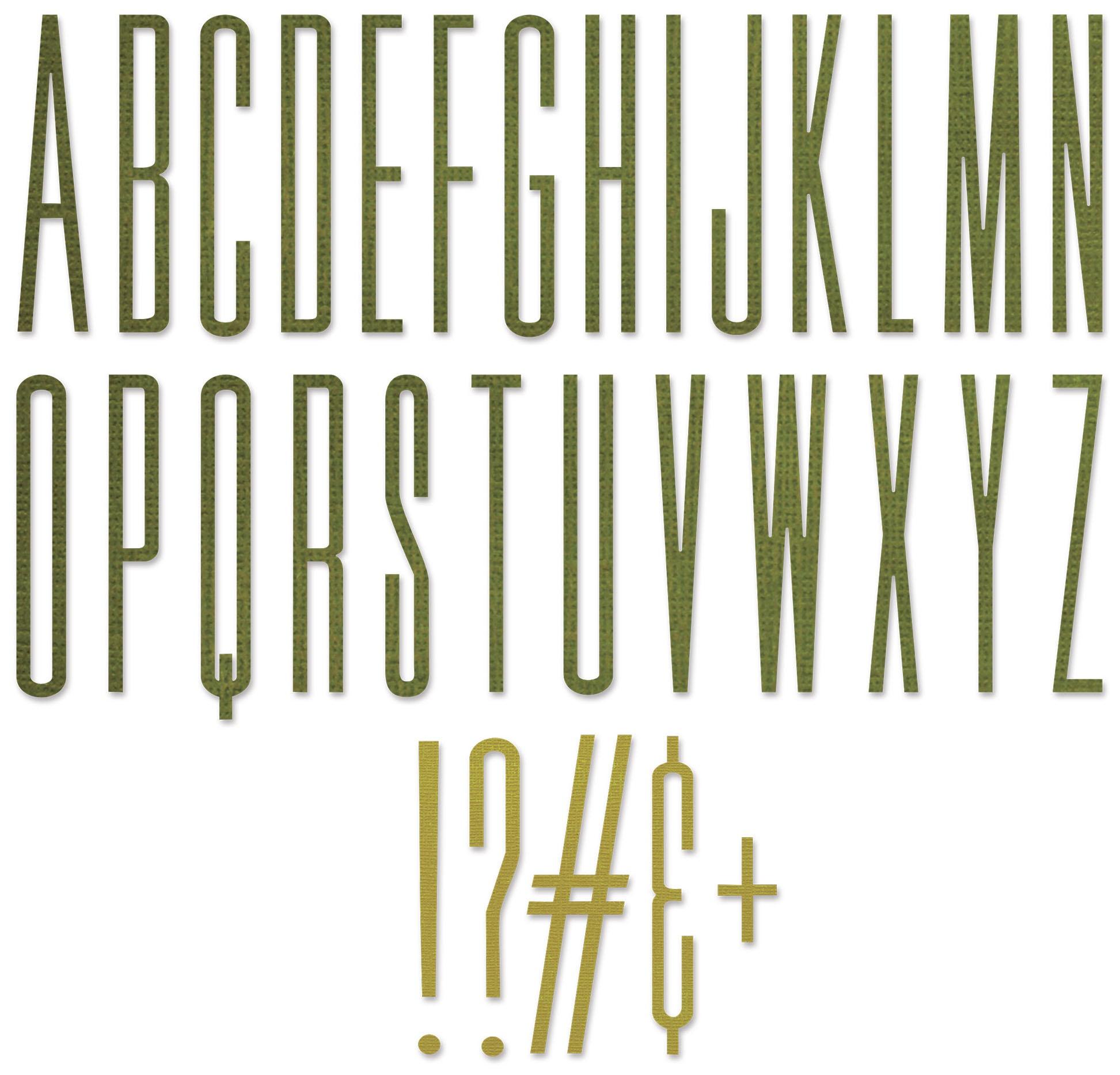 Sizzix Thinlits Dies By Tim Holtz 31/Pkg-Alphanumeric Stretch Upper