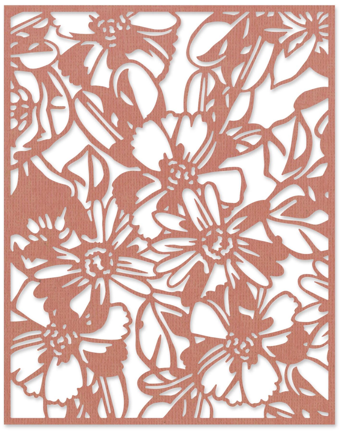Sizzix Thinlits Die By Tim Holtz-Flowery
