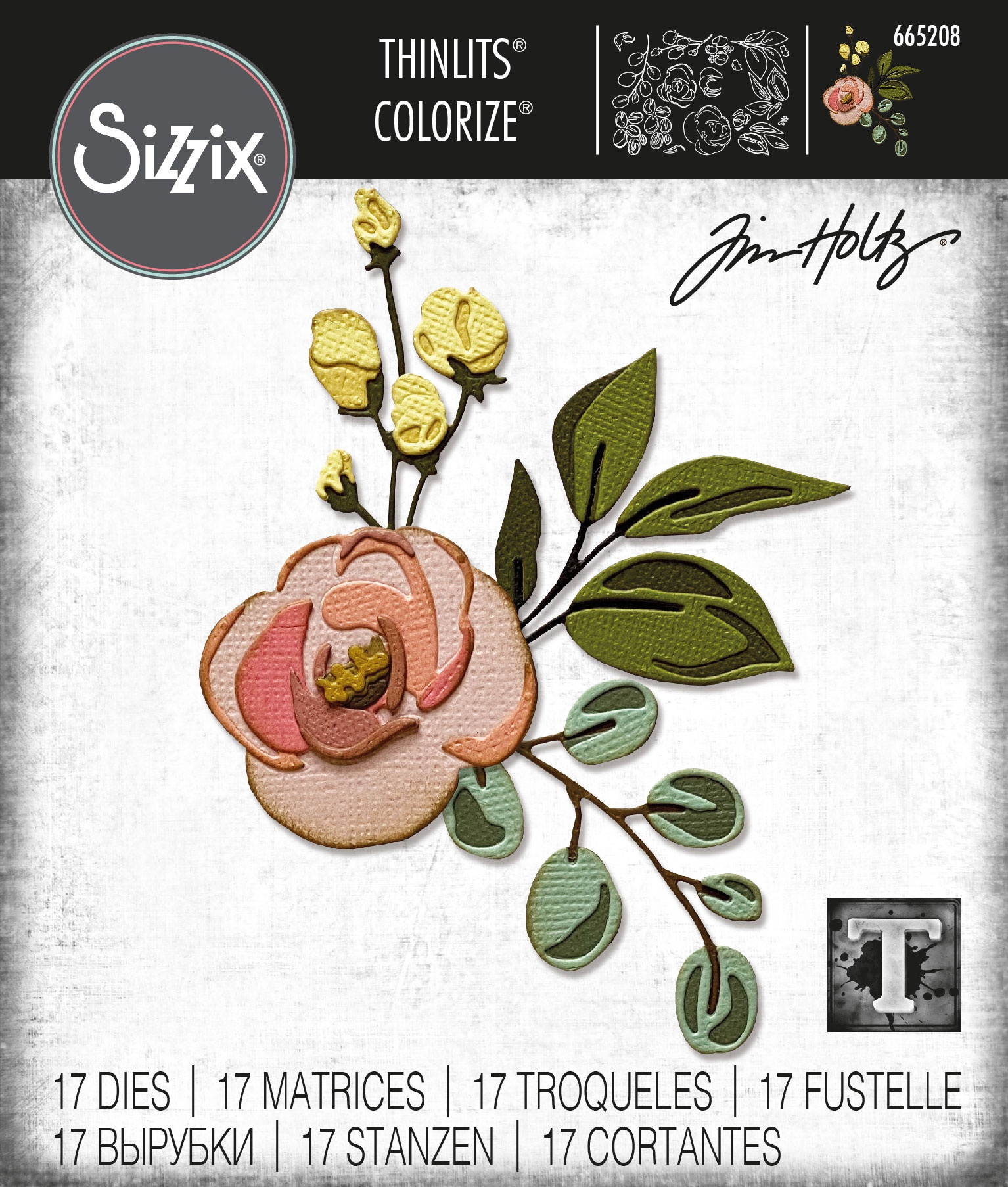 Sizzix Thinlits Dies By Tim Holtz -Bloom Colorize