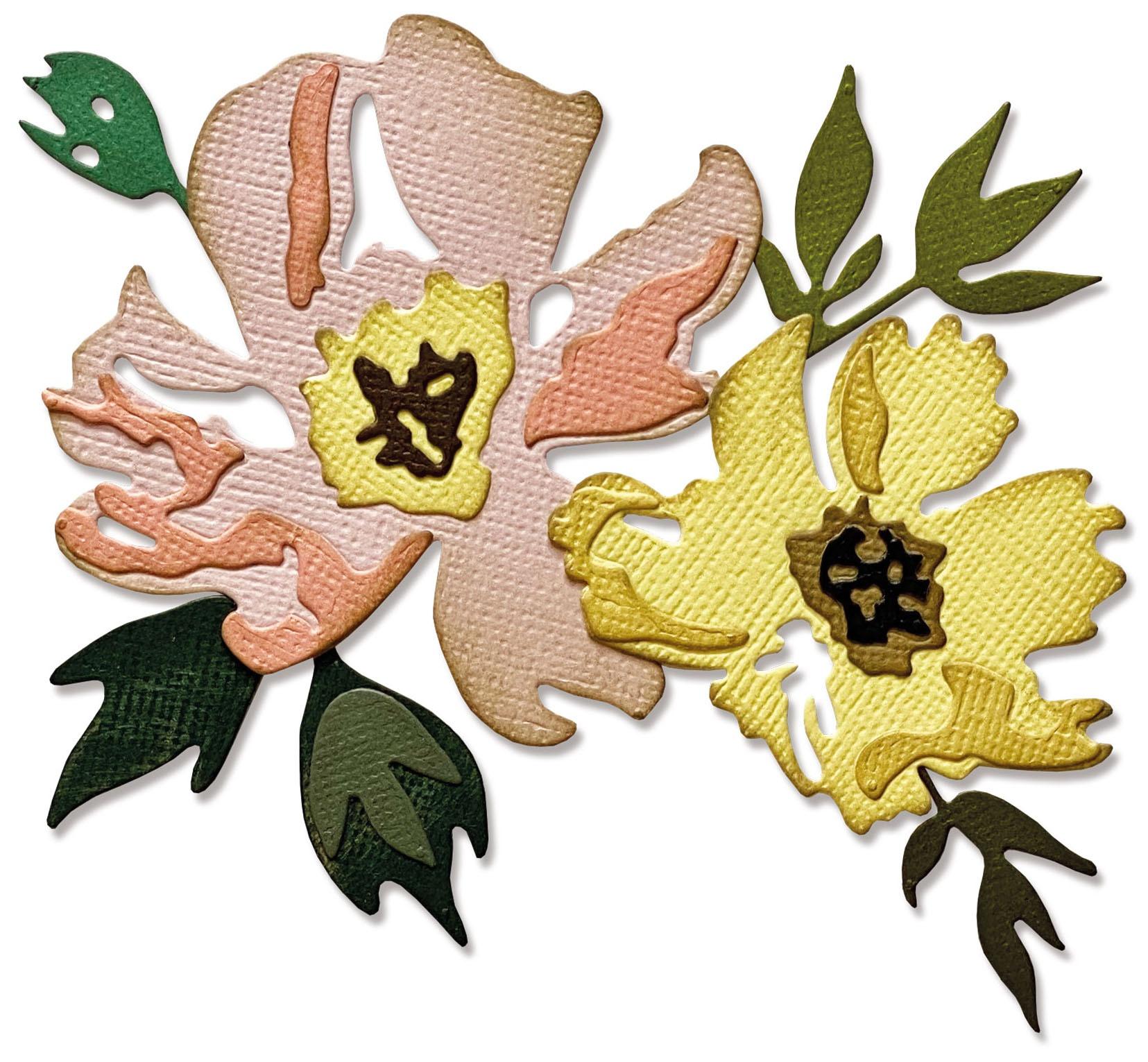 Sizzix Thinlits Dies By Tim Holtz 7/Pkg-Brushstroke Flowers #1