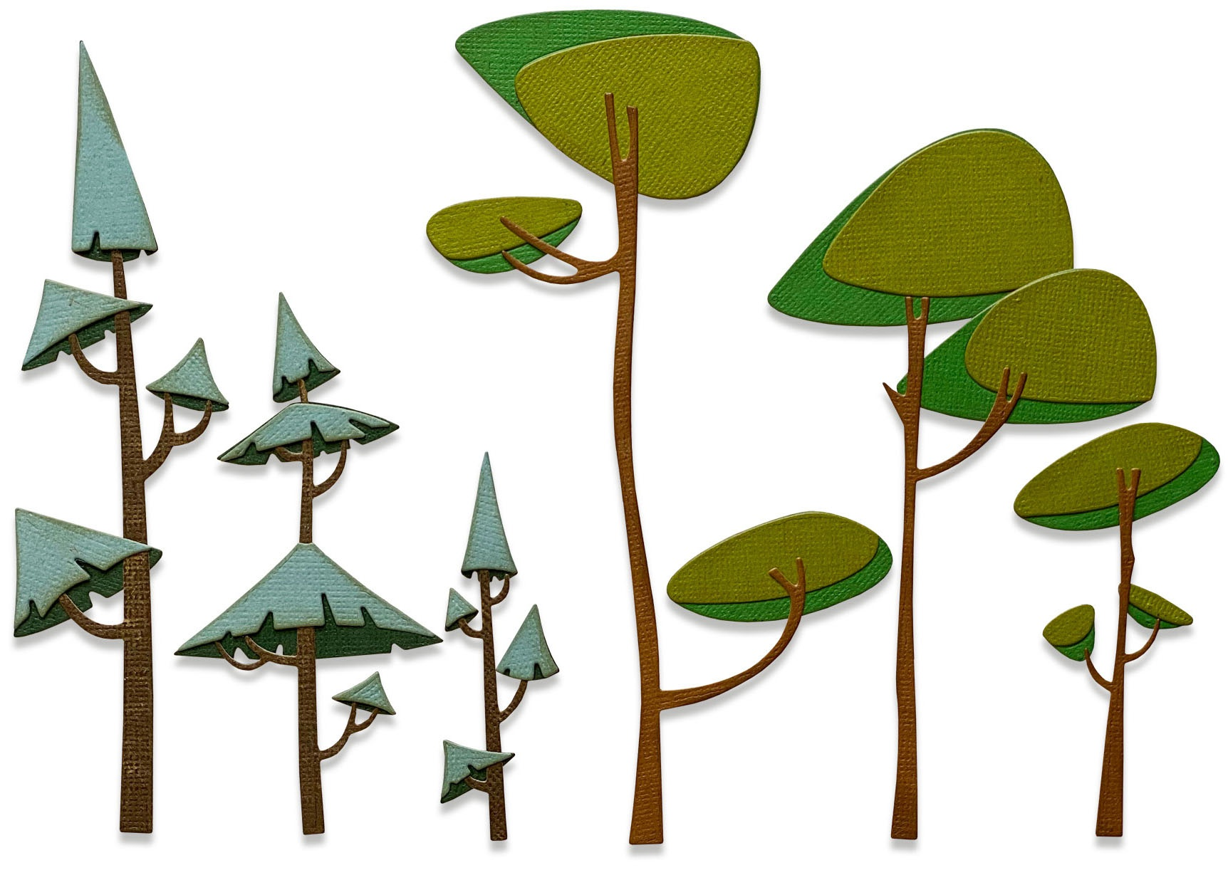 Sizzix Thinlits Dies By Tim Holtz 6/Pkg-Funky Trees