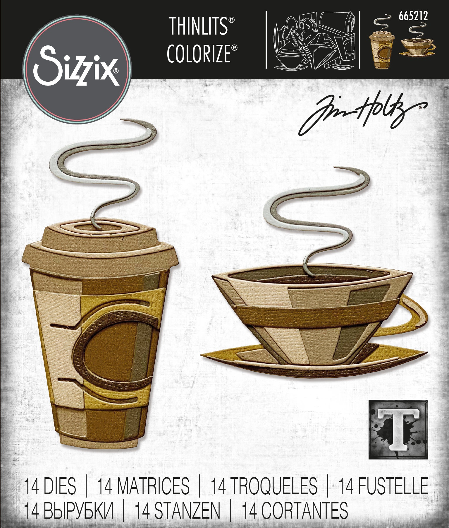 Sizzix Thinlits Dies By Tim Holtz -Cafe Colorize