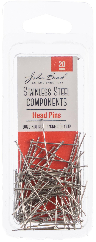 Stainless Steel Head Pins 100/Pks-20mm