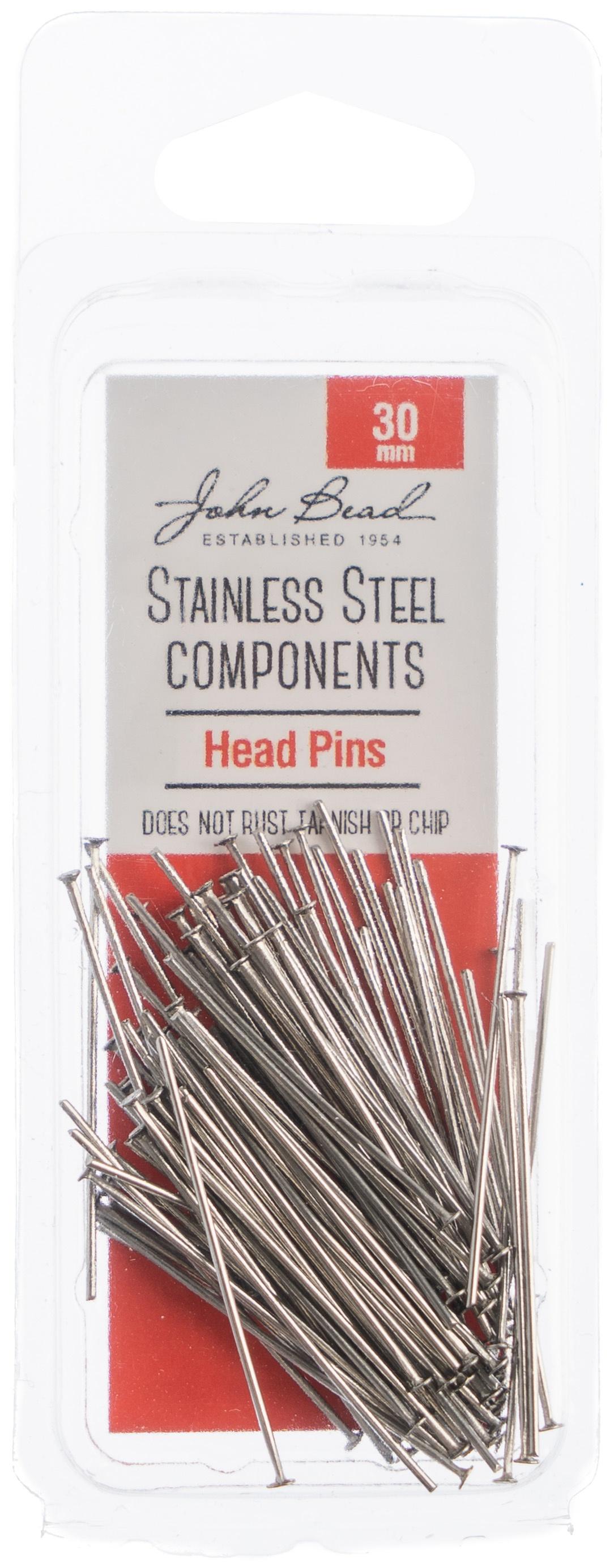 Stainless Steel Head Pins 100/Pks-30mm