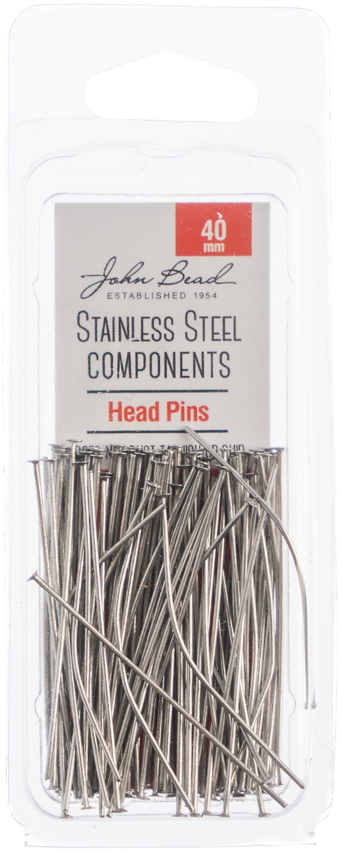 Stainless Steel Head Pins 100/Pks-40mm