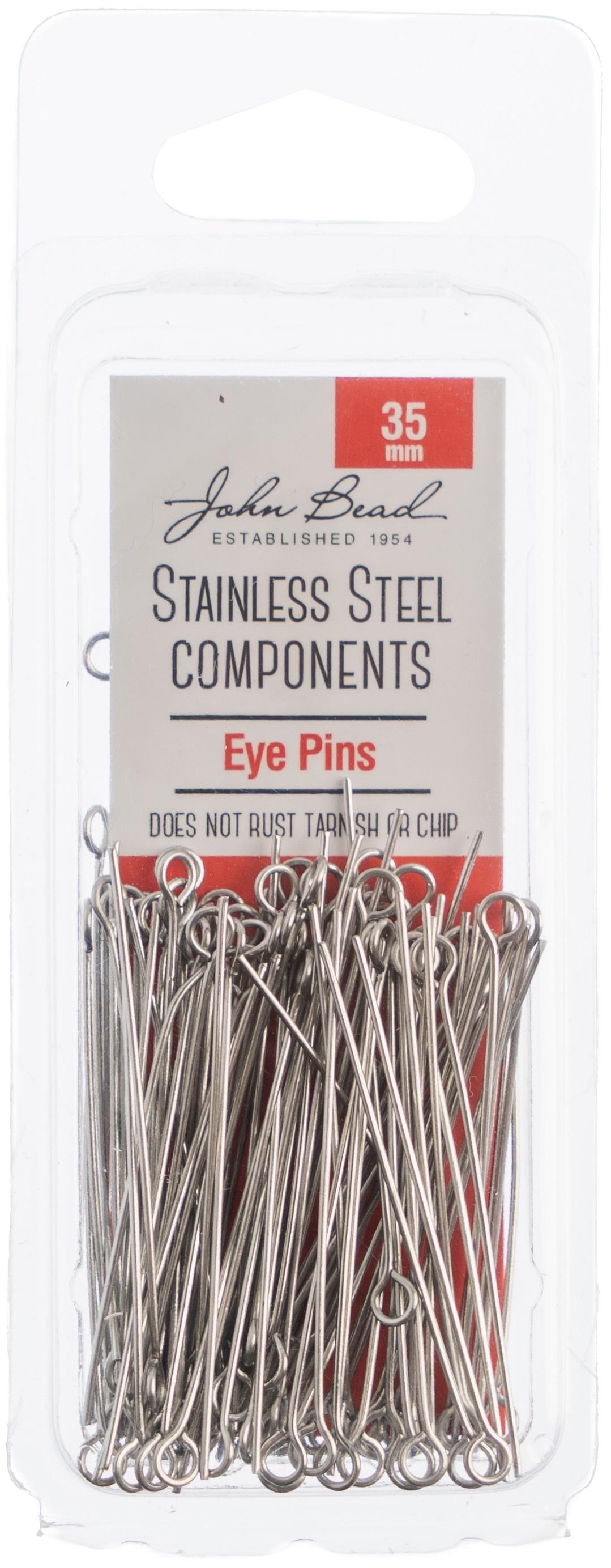 Stainless Steel Eye Pins 100/Pkg-35mm