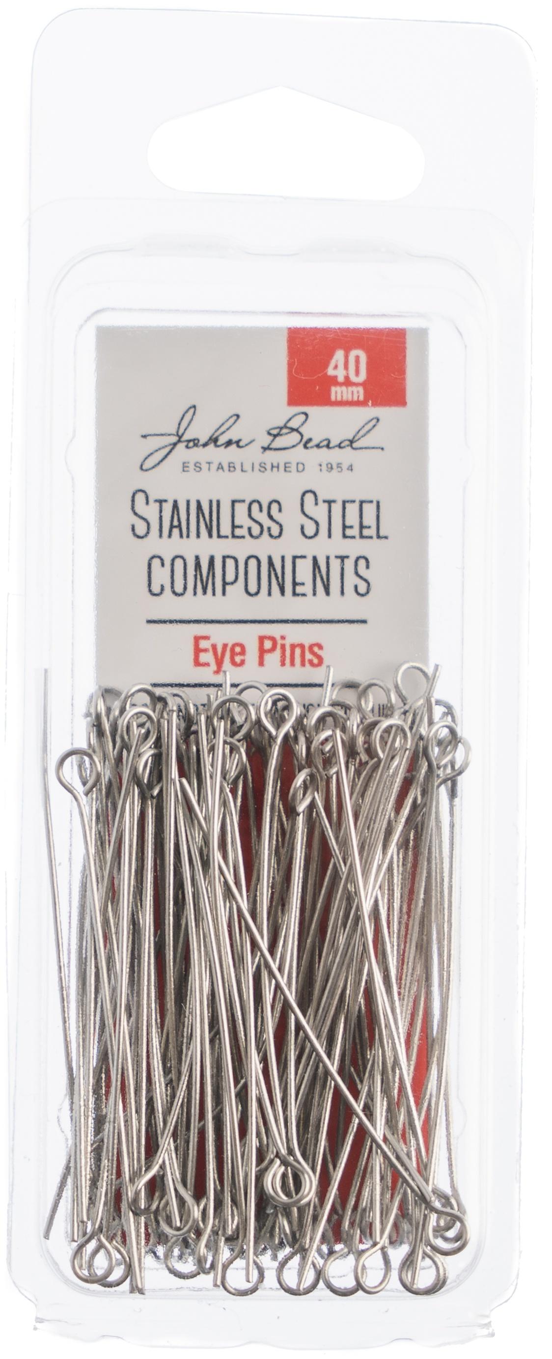 Stainless Steel Eye Pins 100/Pkg-40mm
