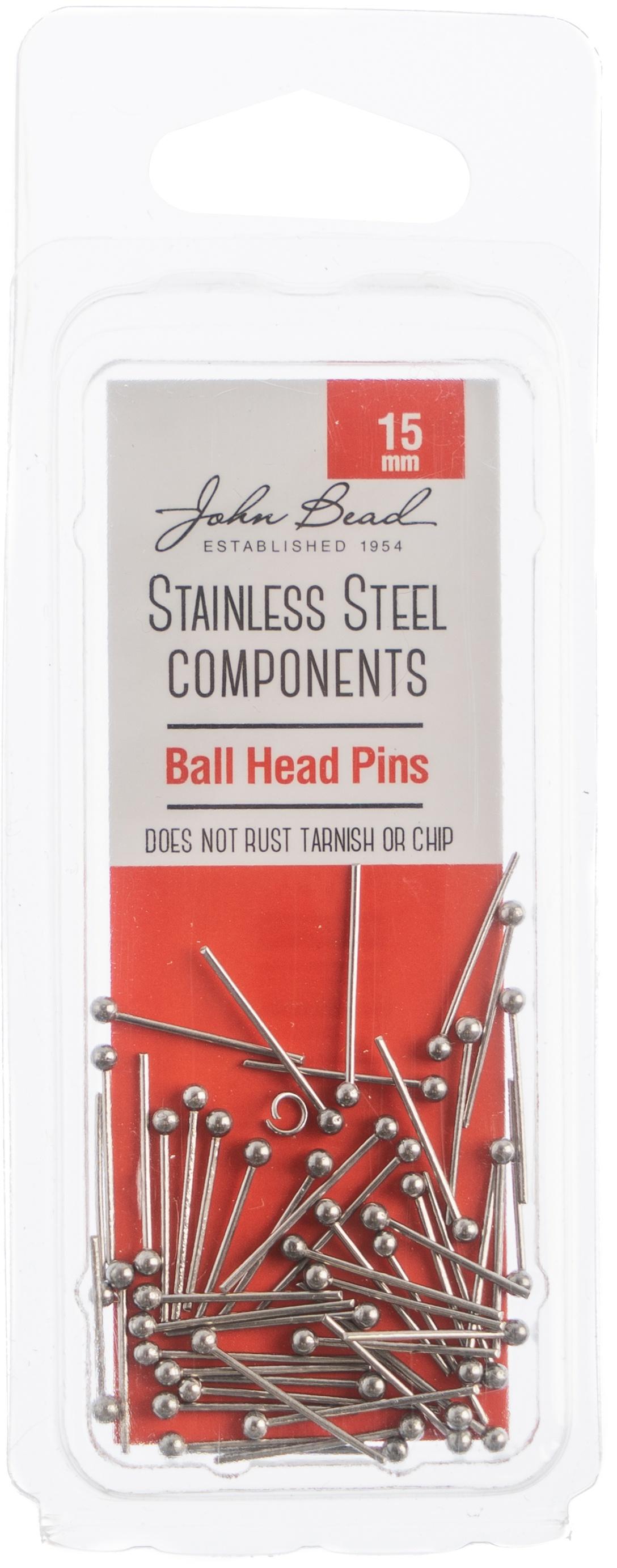 Stainless Steel Ball Head Pins 50/Pkg-15mm