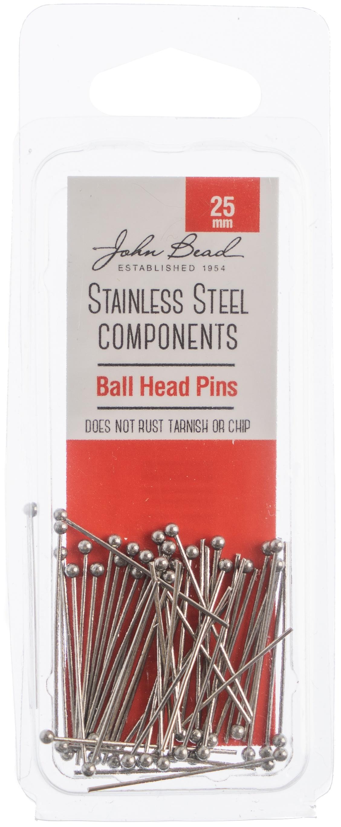 Stainless Steel Ball Head Pins 50/Pkg-25mm