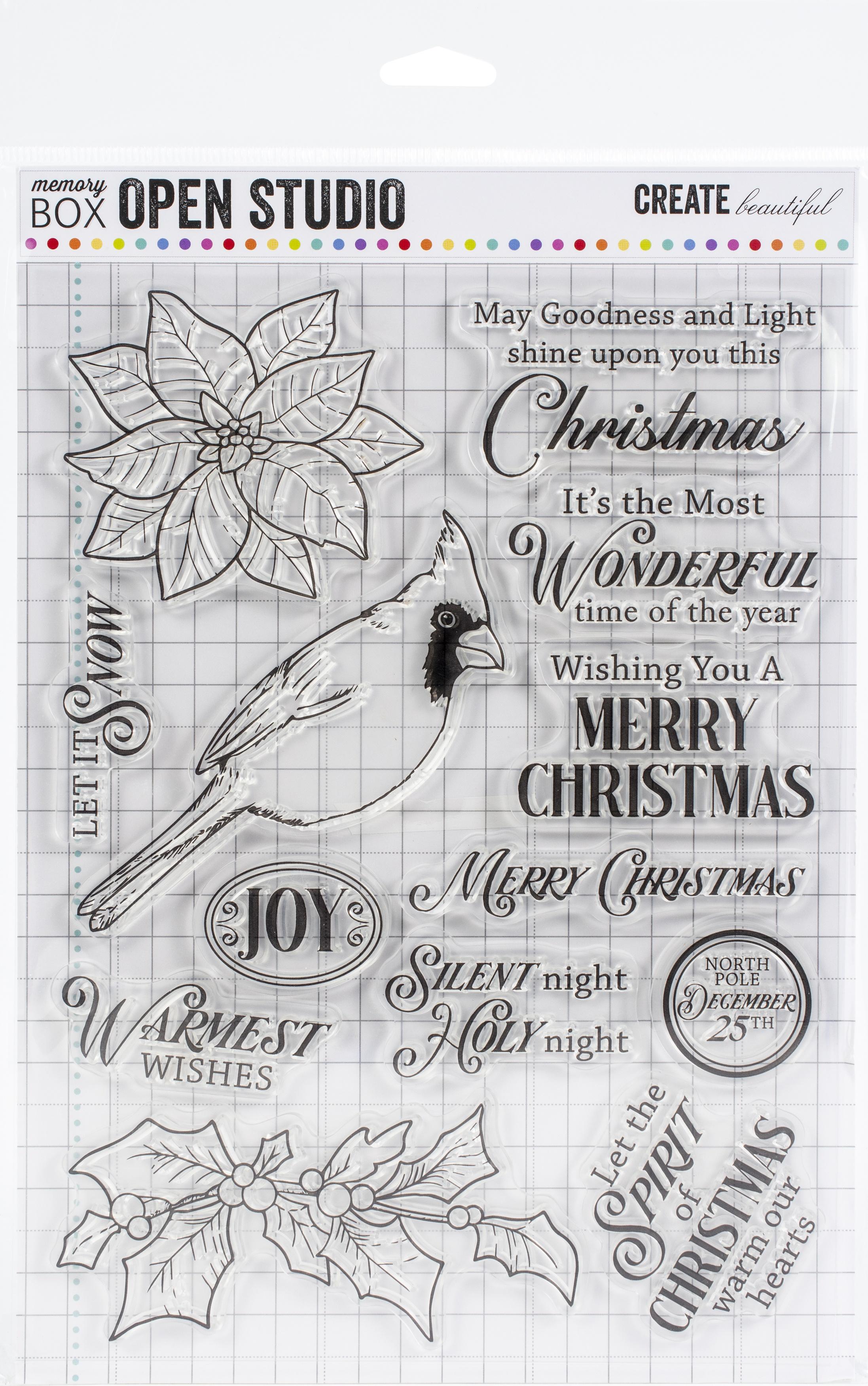 Memory Box Stamp & Die Set-Spirit Of Christmas