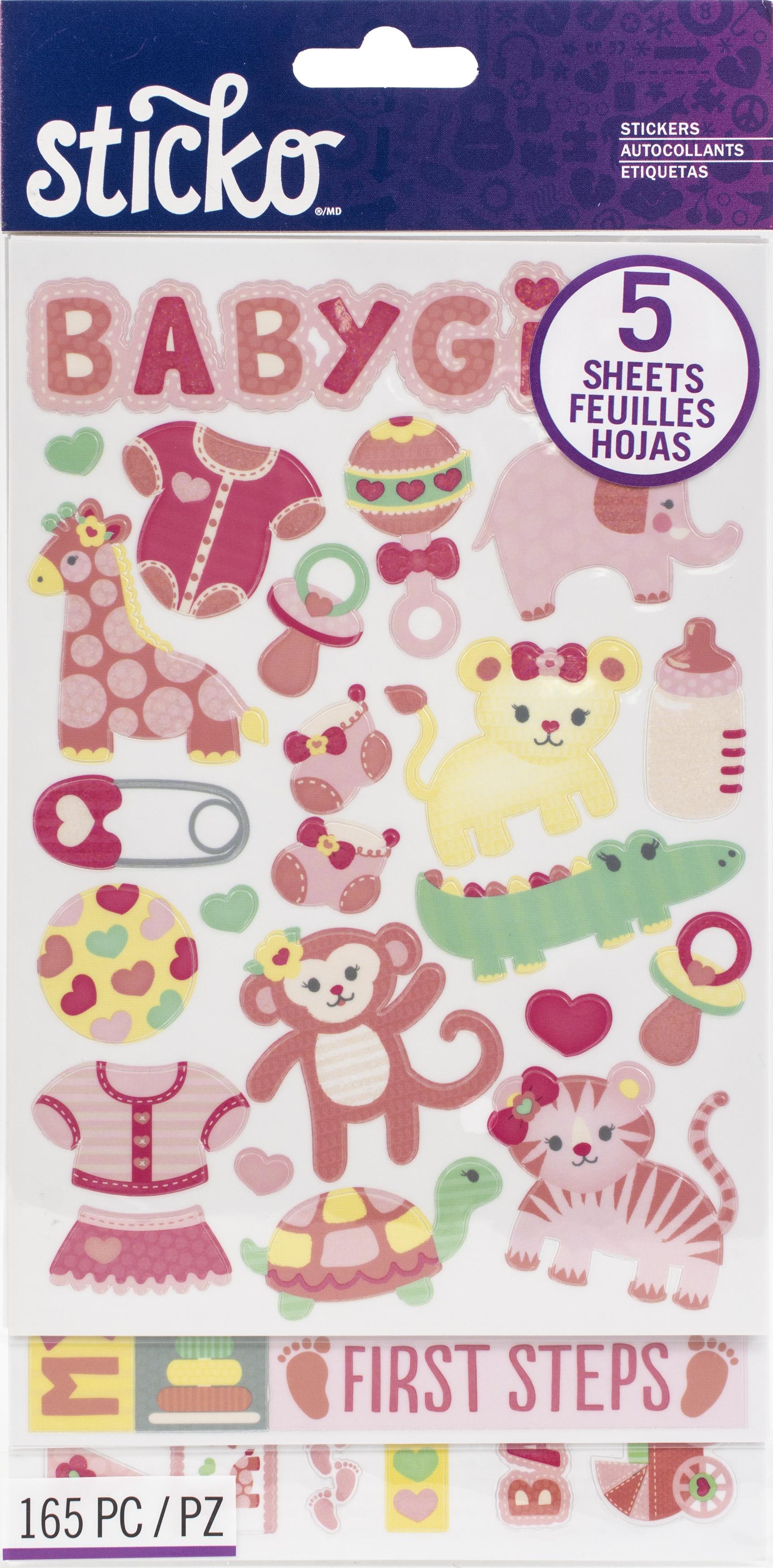 Sticko Themed Flip Pack Stickers 159/Pkg-Baby Girl