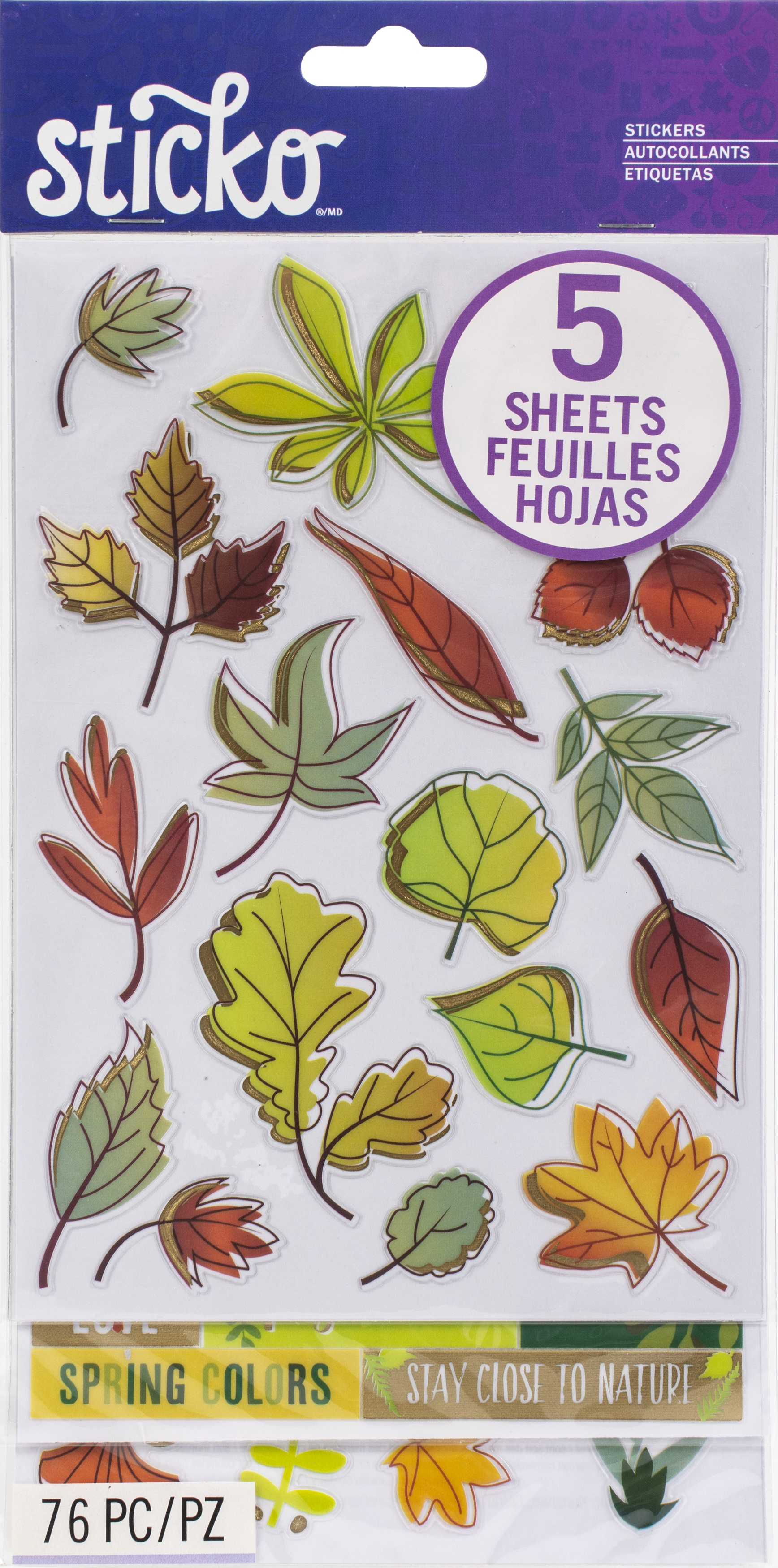 Nature Stickers 76/Pkg