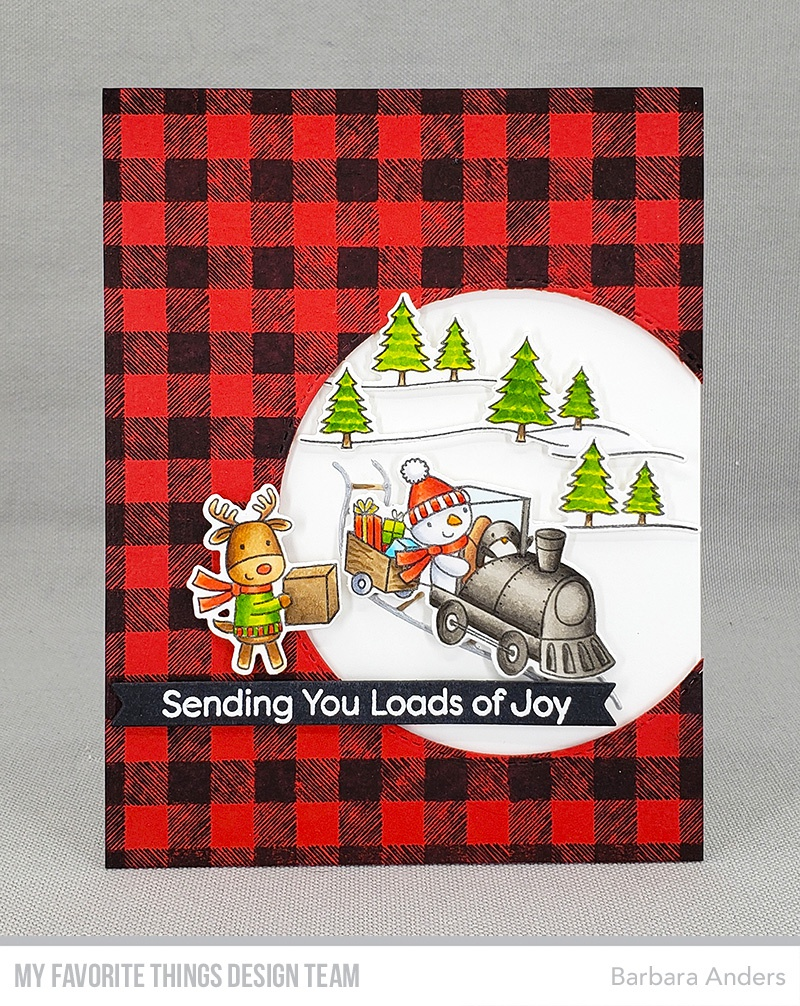 My Favorite Things Background Cling Rubber Stamp 6X6-Buffalo Plaid