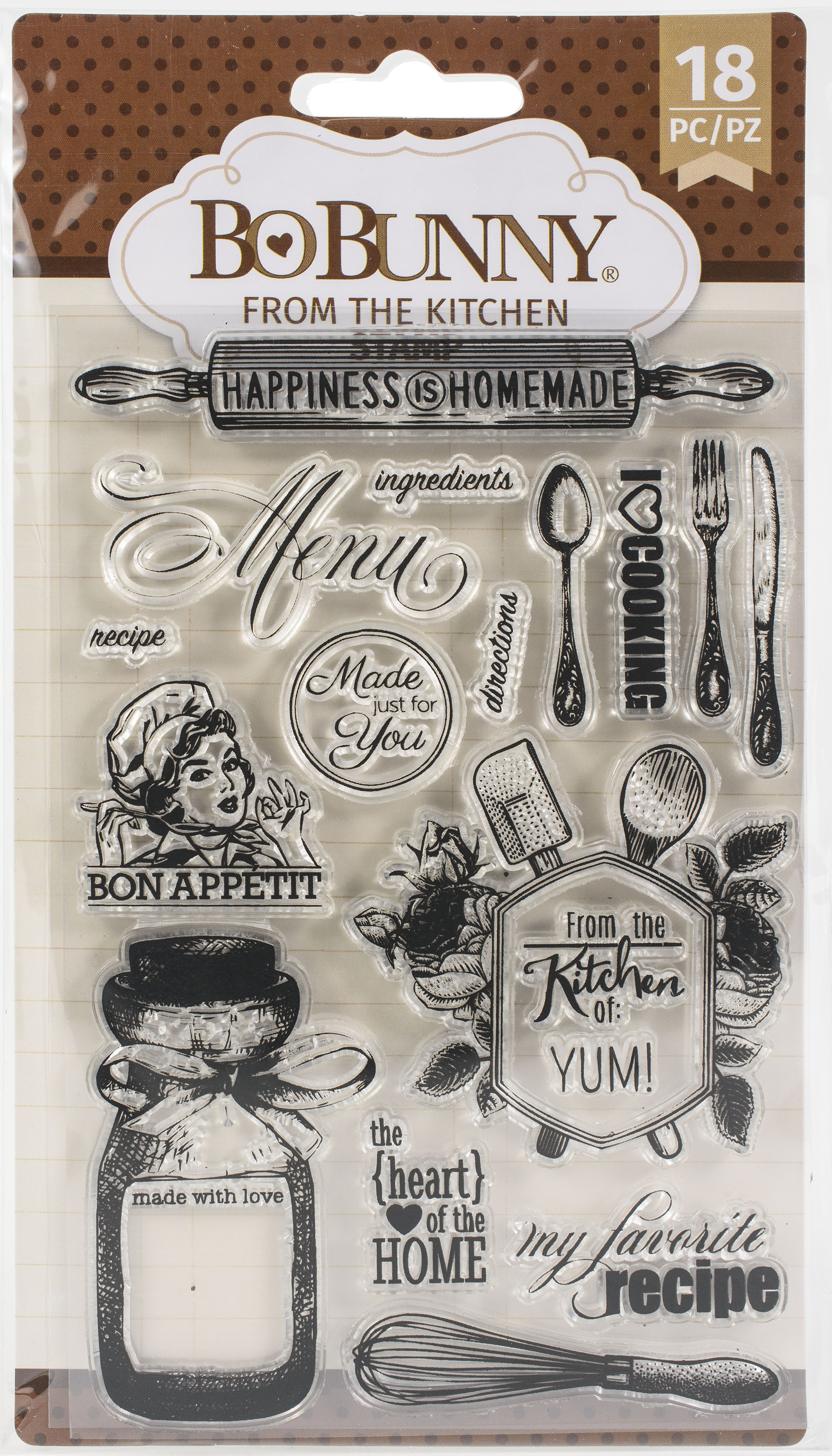 BoBunny Clear Stamps - From The Kitchen